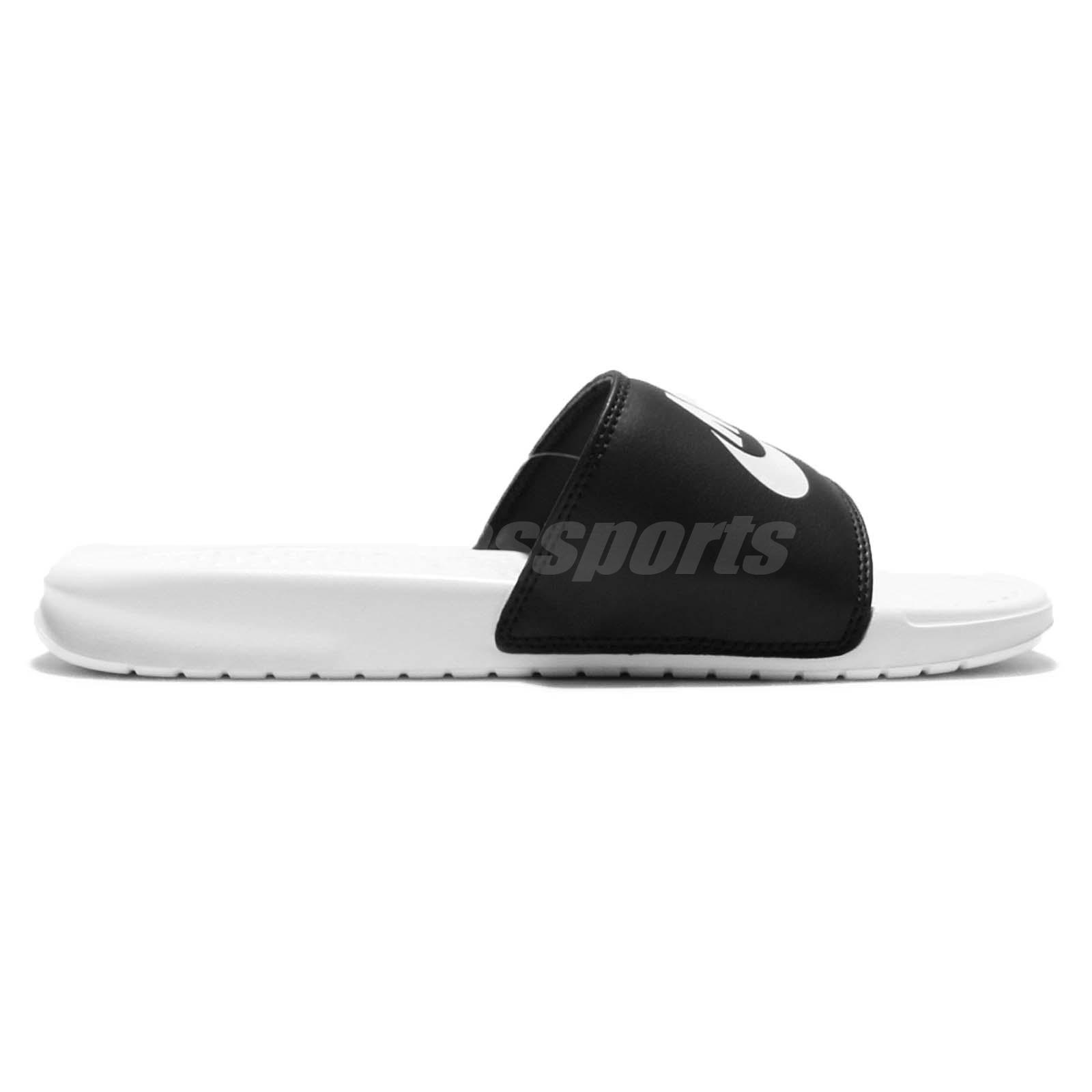 daf95d9039c Nike Benassi JDI Mismatch Black White Men Women Sandal Slides 818736 ...