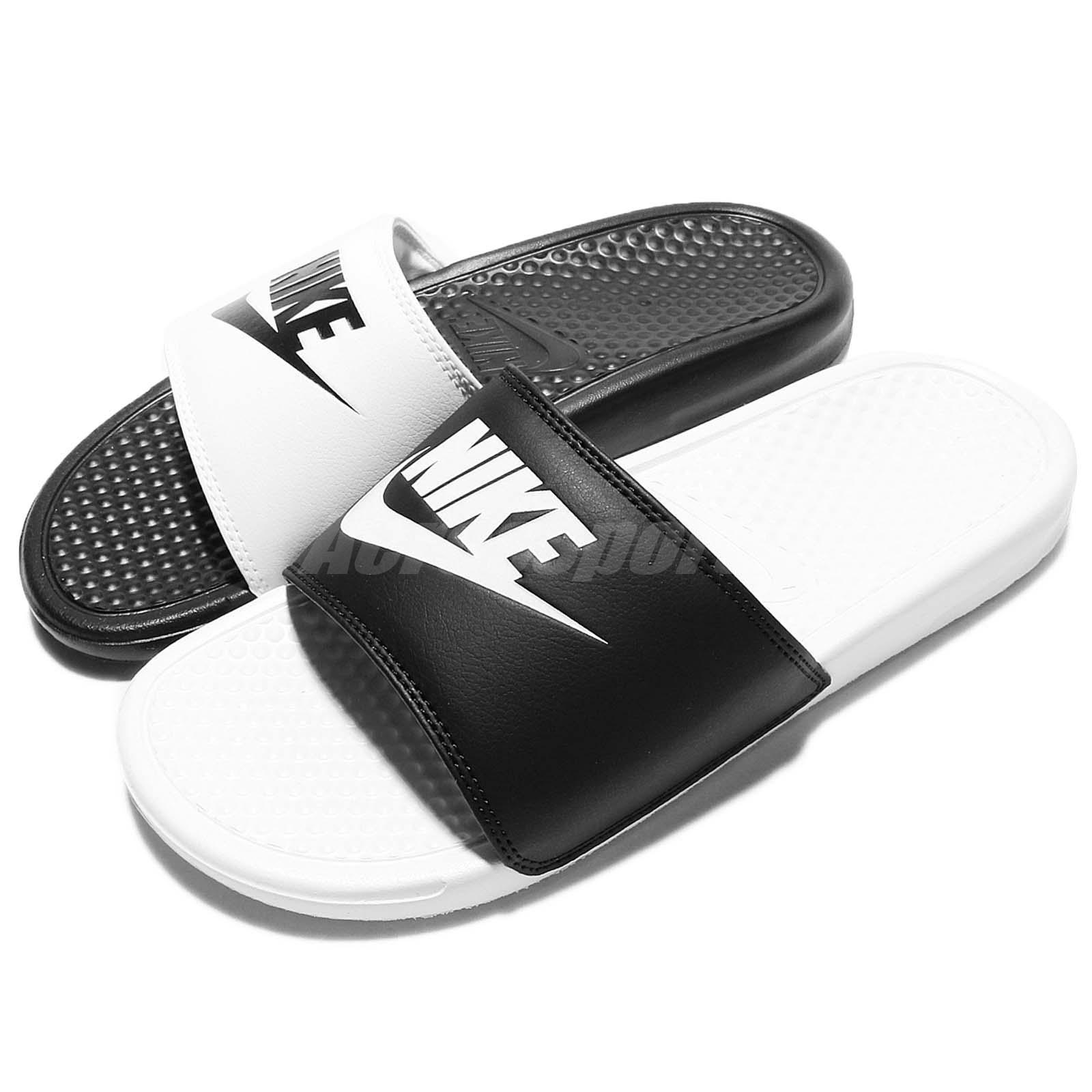 0e005e2b00 Details about Nike Benassi JDI Mismatch Black White Men Women Sandal Slides  818736-011