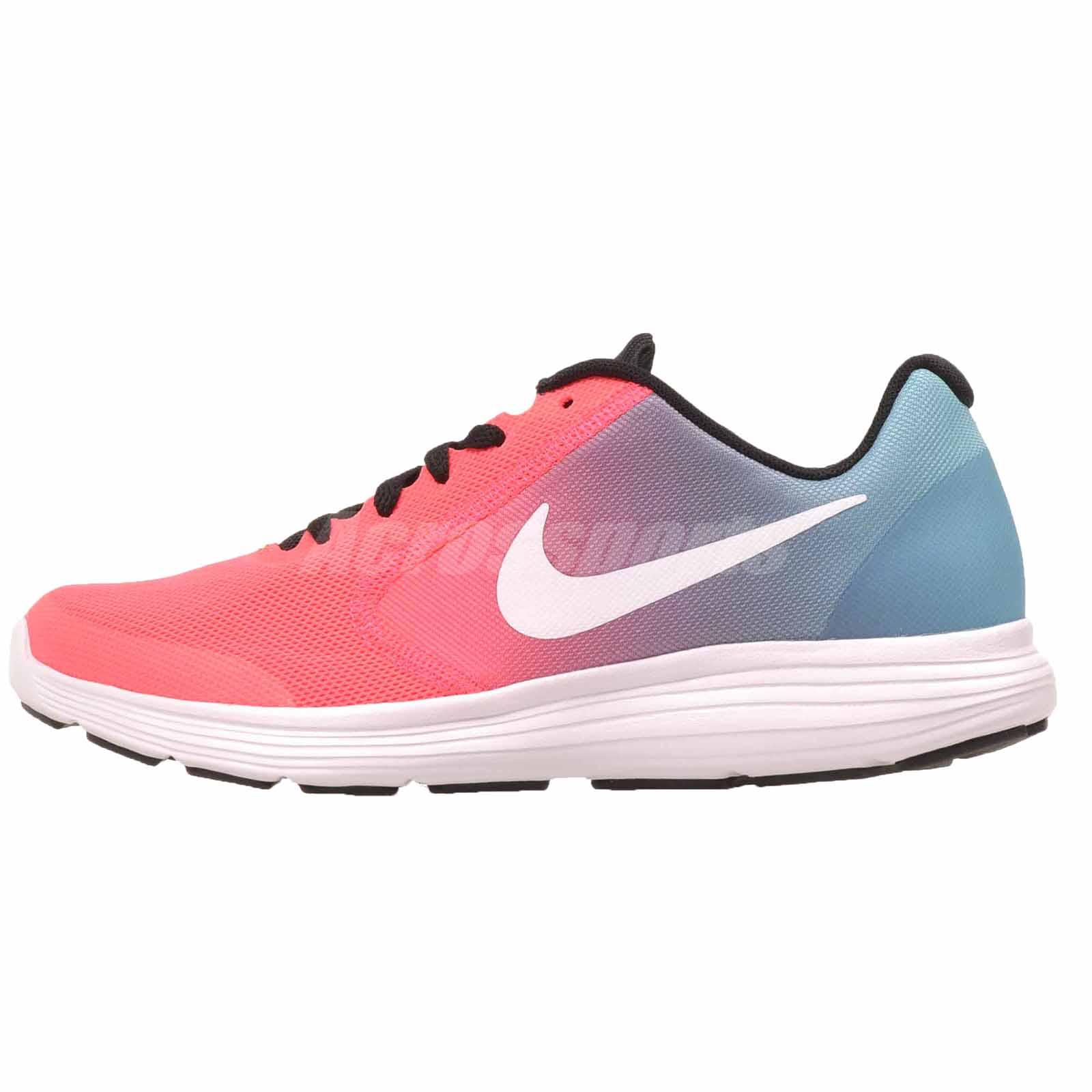 d8917c92ca781 Nike Revolution 3 GS Running Kids Youth Womens Shoes Blue Pink 819416-404