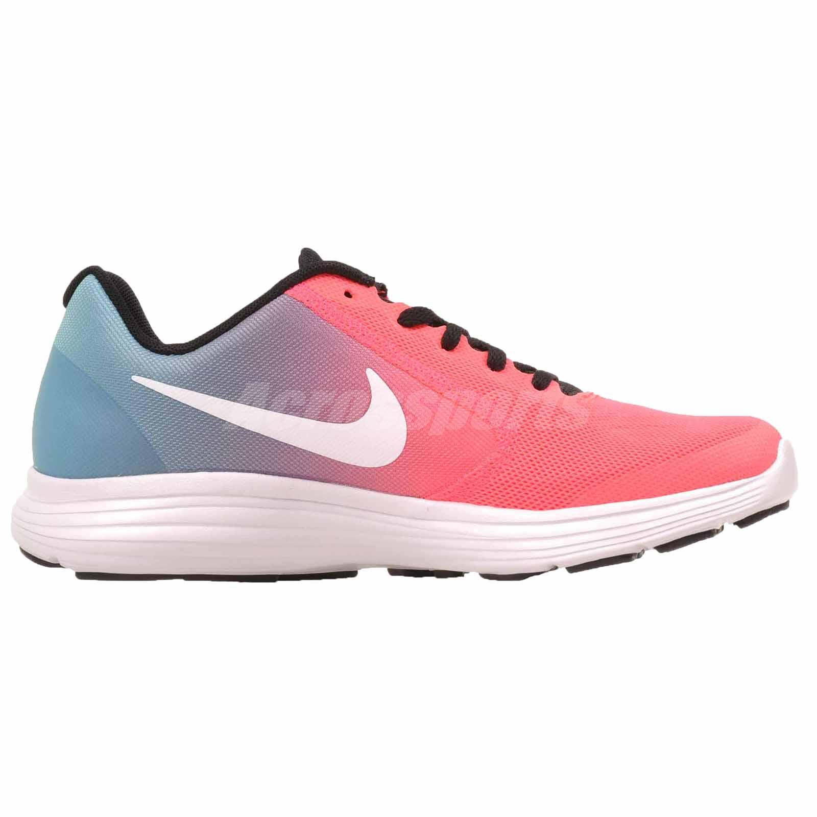the best attitude ee8bd a7788 Nike Revolution 3 GS Running Kids Youth Womens Shoes Blue Pink ...