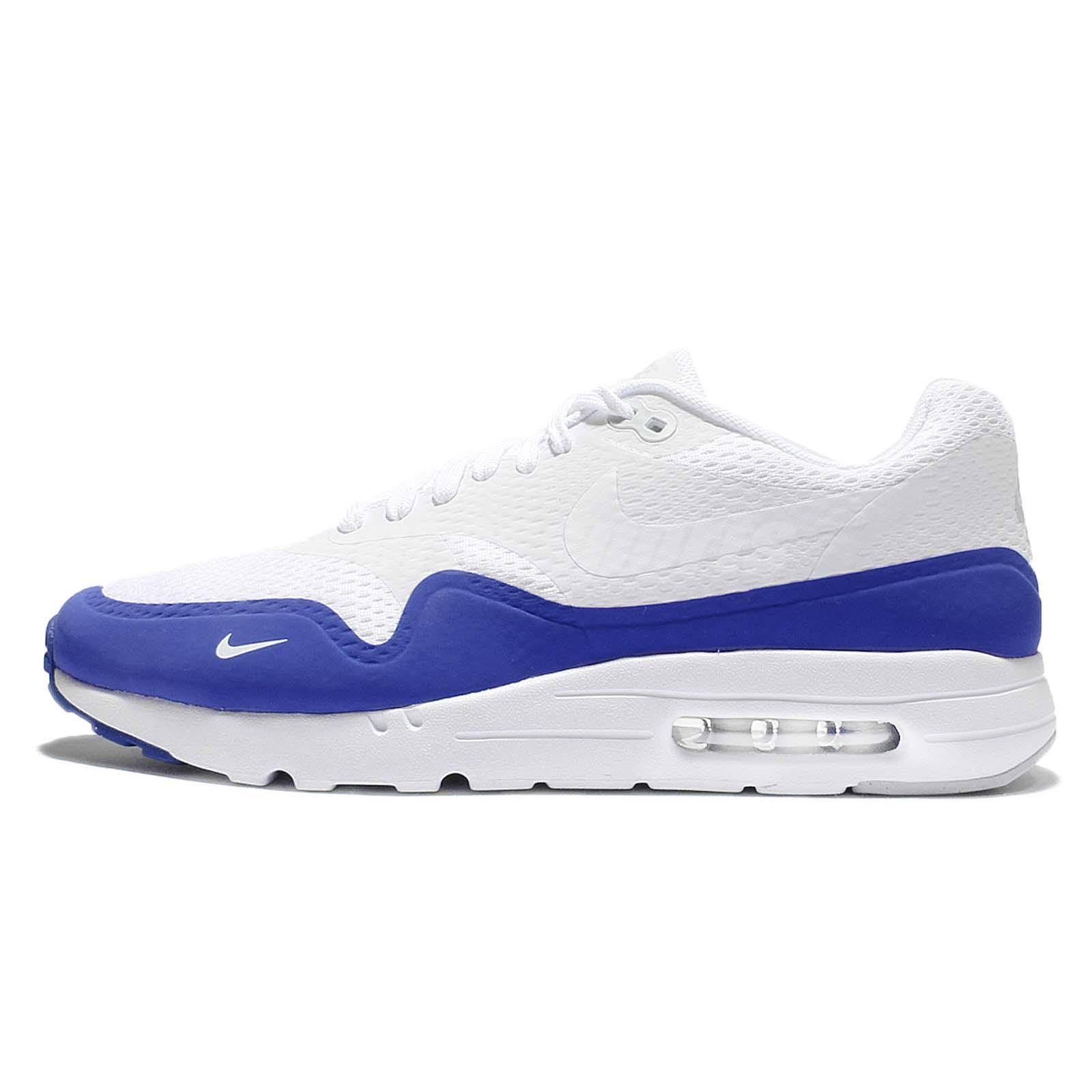 Nike Air Max 1 Ultra Essential NSW White Blue Men Running Shoes 819476-114