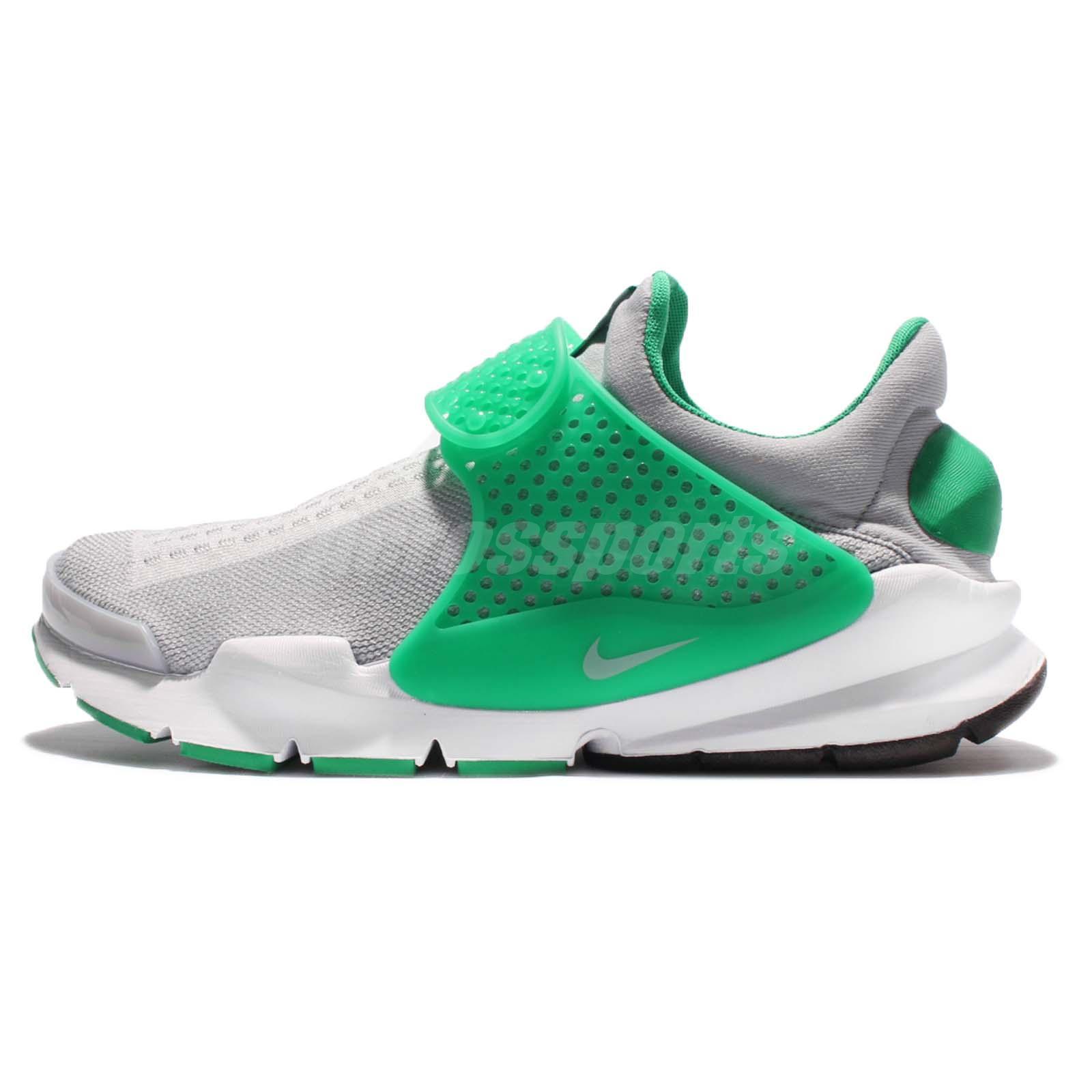 nike sock dardo kjcrd maglia grigio  verde broccato uomini scarpe da corsa
