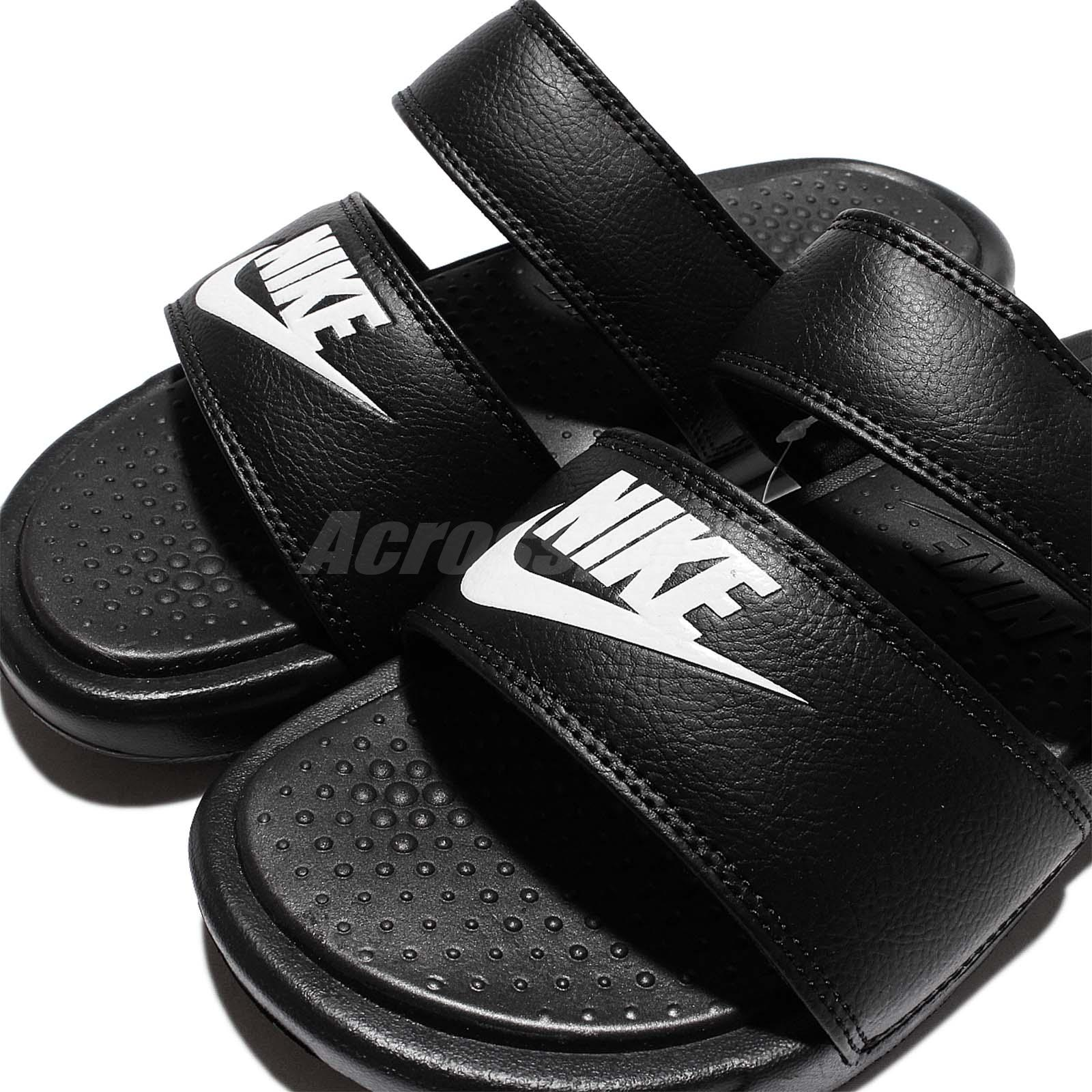 hot sale online e6025 9b708 Details about Wmns Nike Benassi Duo Ultra Slide Sandal Black White Womens  Slippers 819717-010