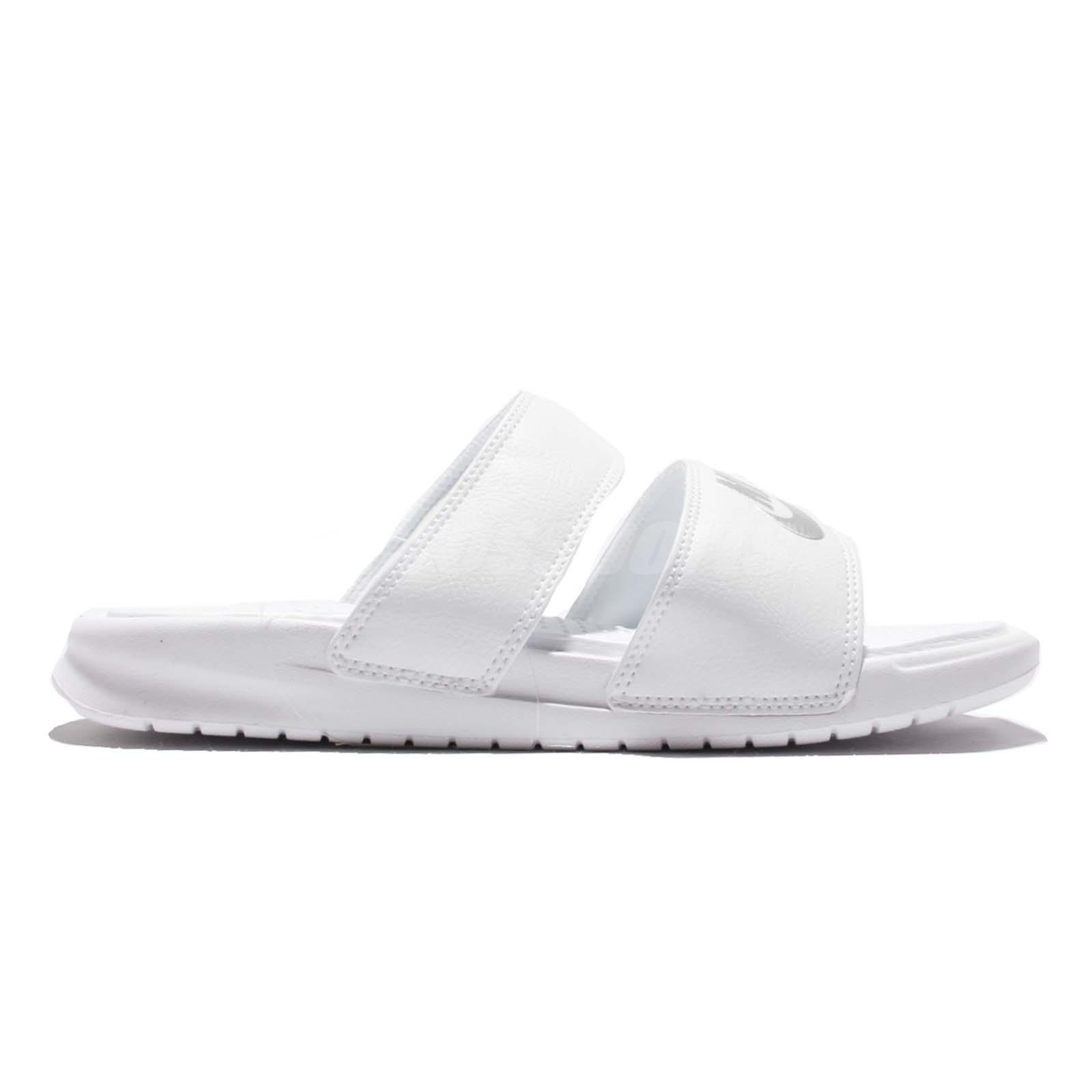 ddafe505b65aa9 Wmns Nike Benassi Duo Ultra Slide Women Triple White Sandal Slippers ...