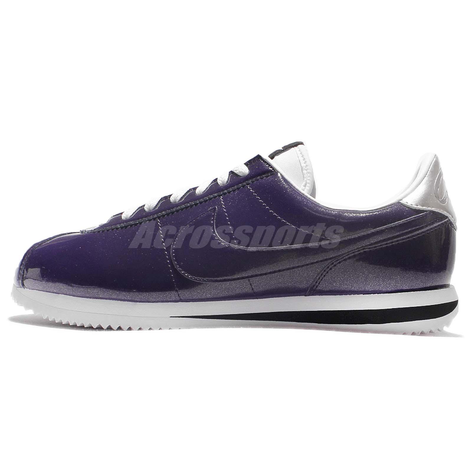 Nike Cortez Basic PREM QS Purple Silver Patent Leather