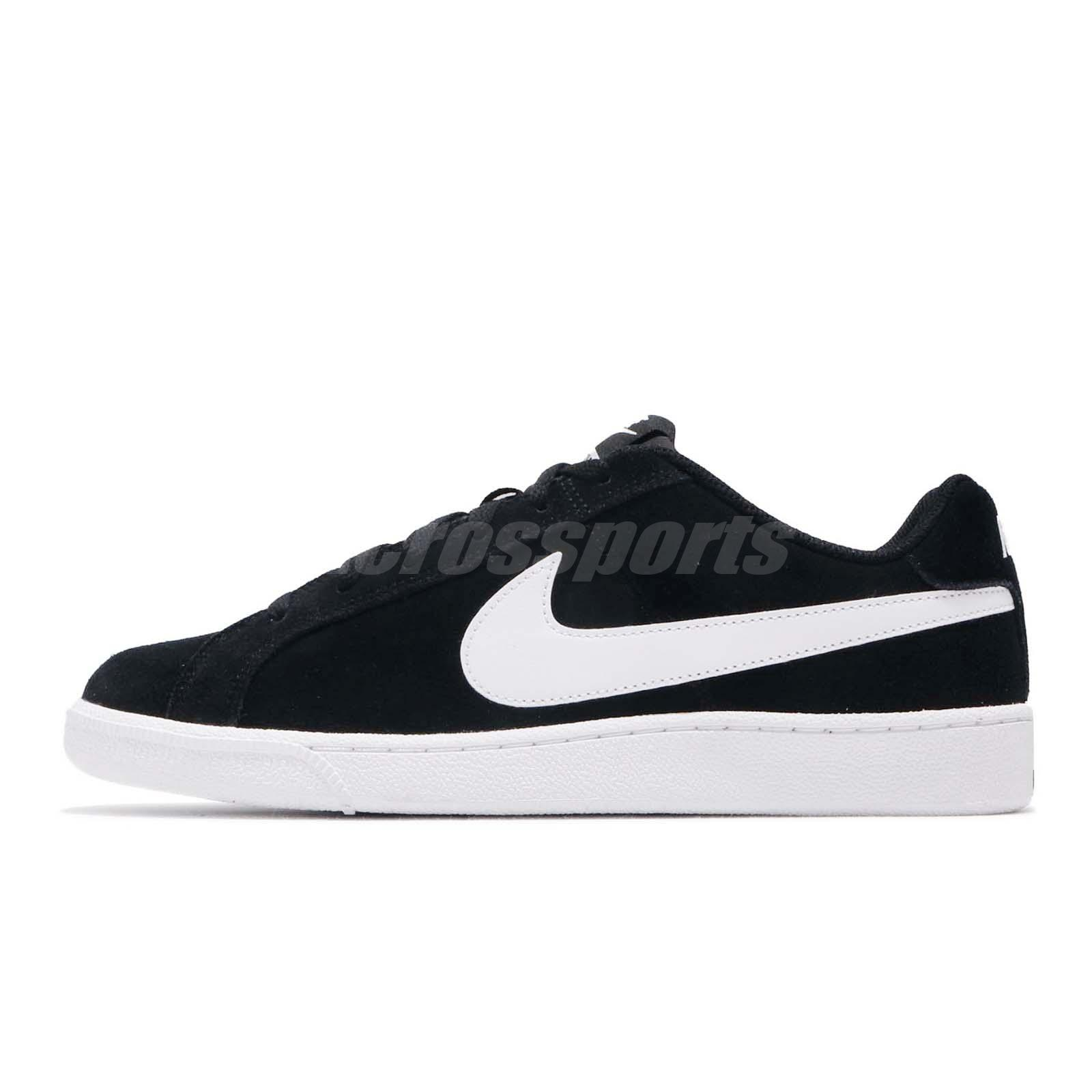 8a324e2cf15 Details about Nike Court Royale Suede Black White Men Casual Shoes Sneakers  819802-011
