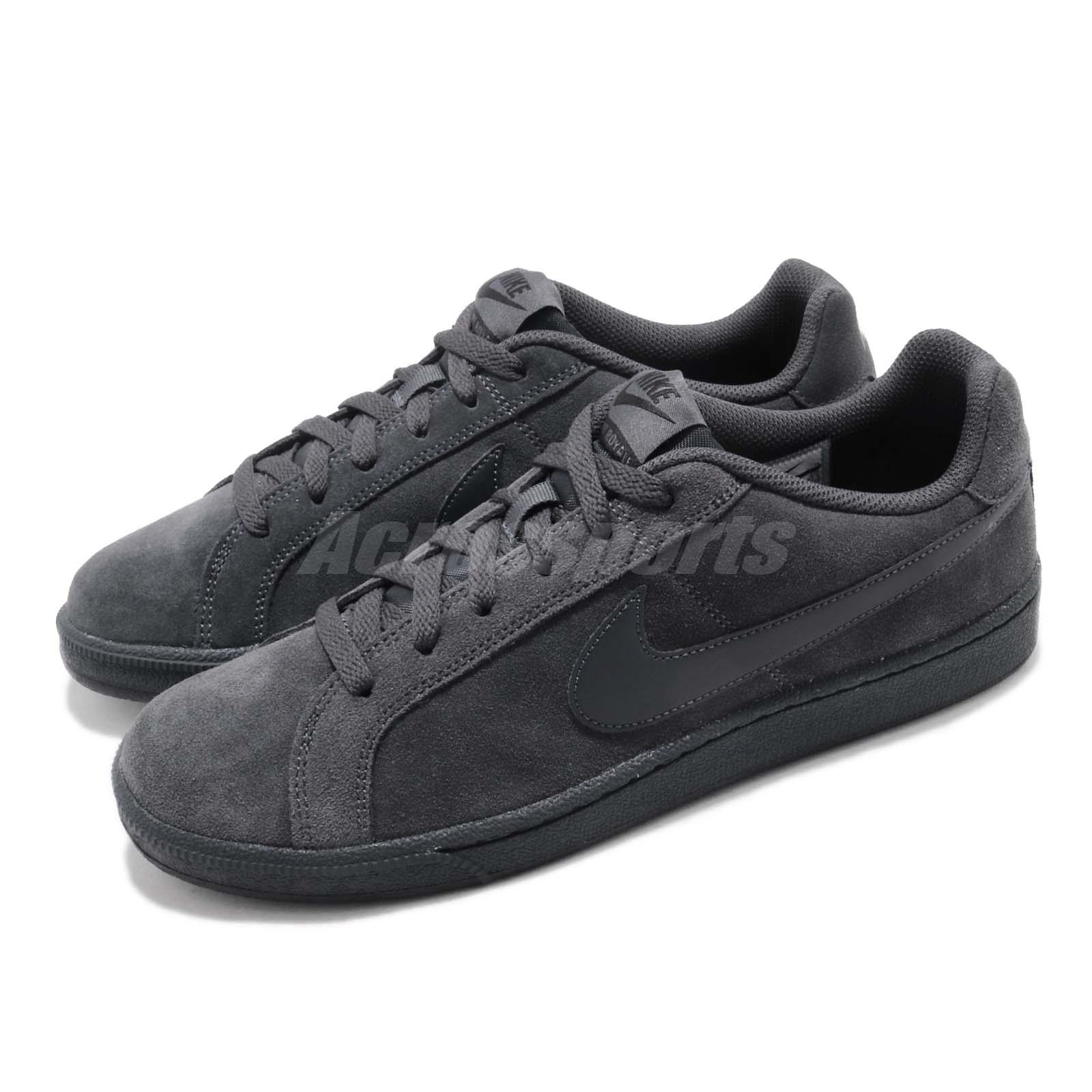 f8eea8d3503 Details about Nike Court Royale Suede Anthracite Black Men Casual Shoes  Sneakers 819802-012