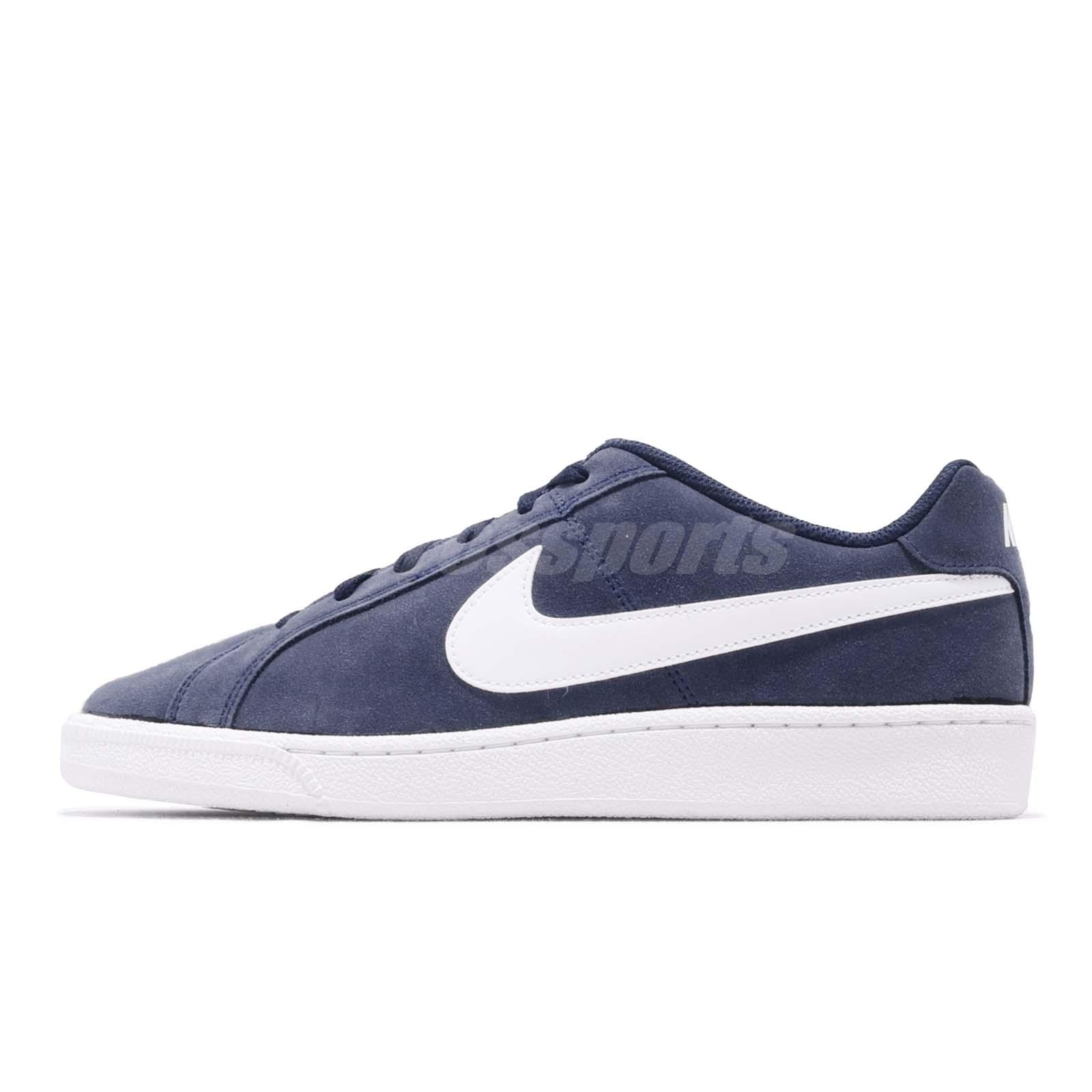 237f240cb63 Nike Court Royale Suede Midnight Navy White Men Casual Shoes Sneakers  819802-410