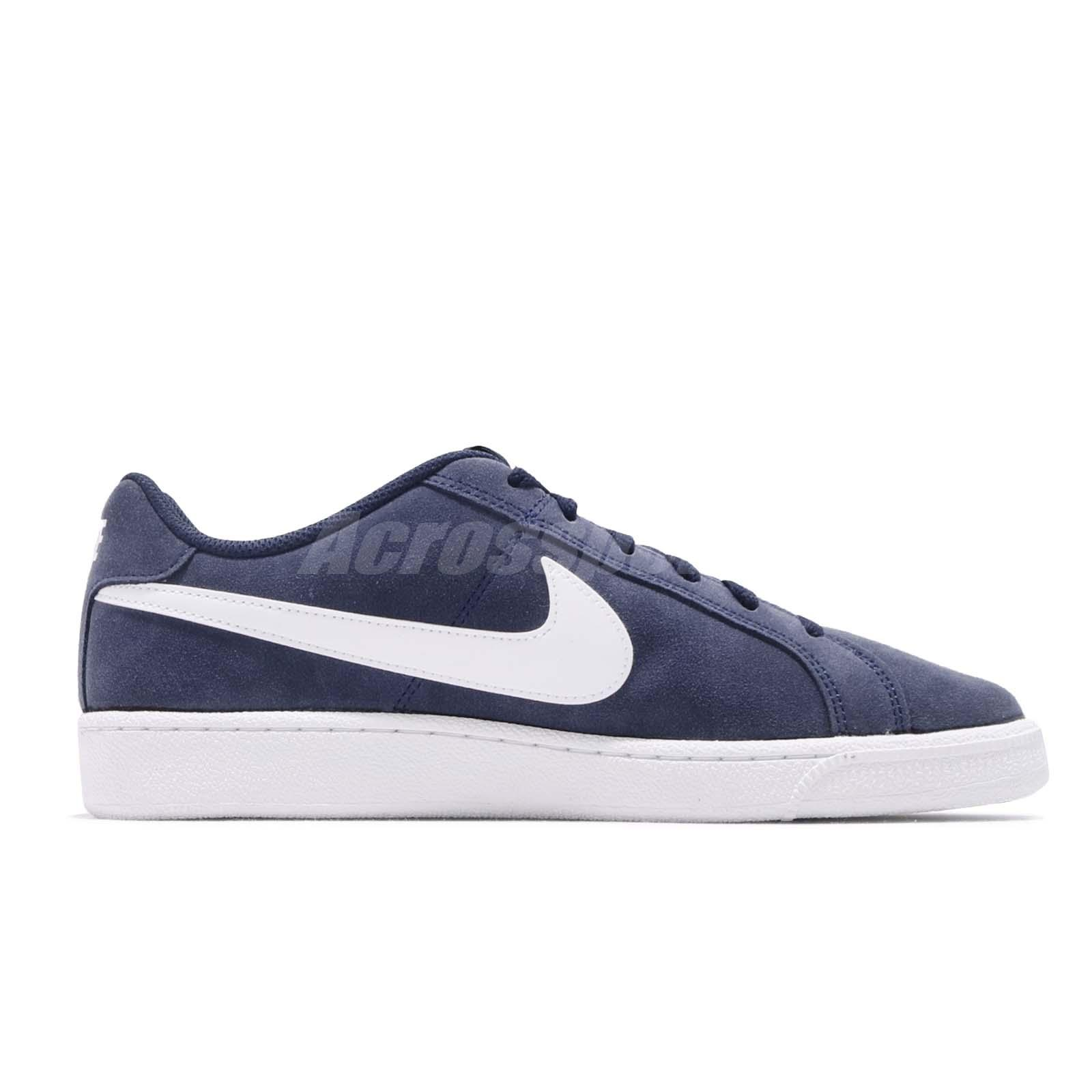 0a9914f4e85 Nike Court Royale Suede Midnight Navy White Men Casual Shoes ...