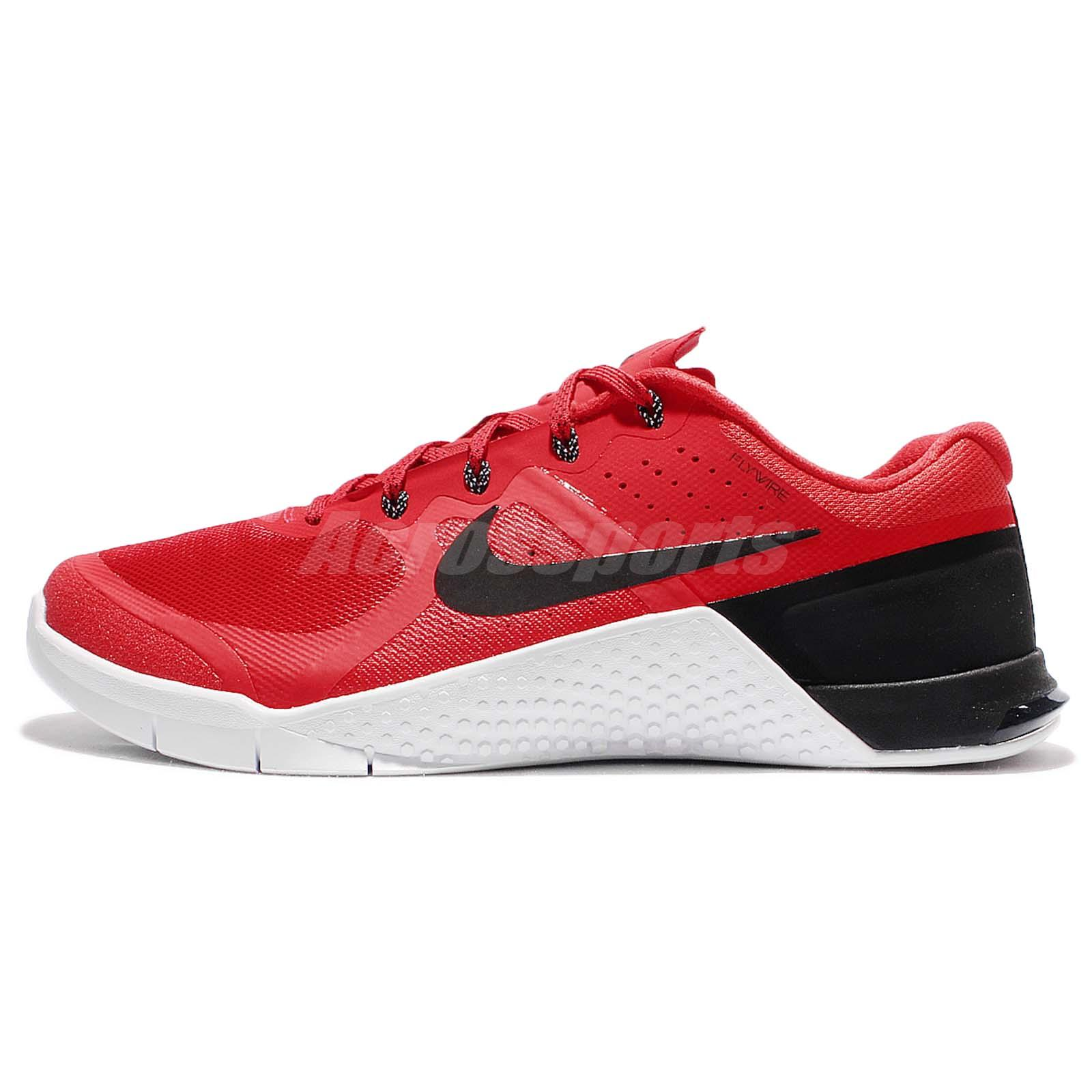 Nike Metcon 2 II Red Black Men Cross Training Shoes Trainers CrossFit 819899 -601