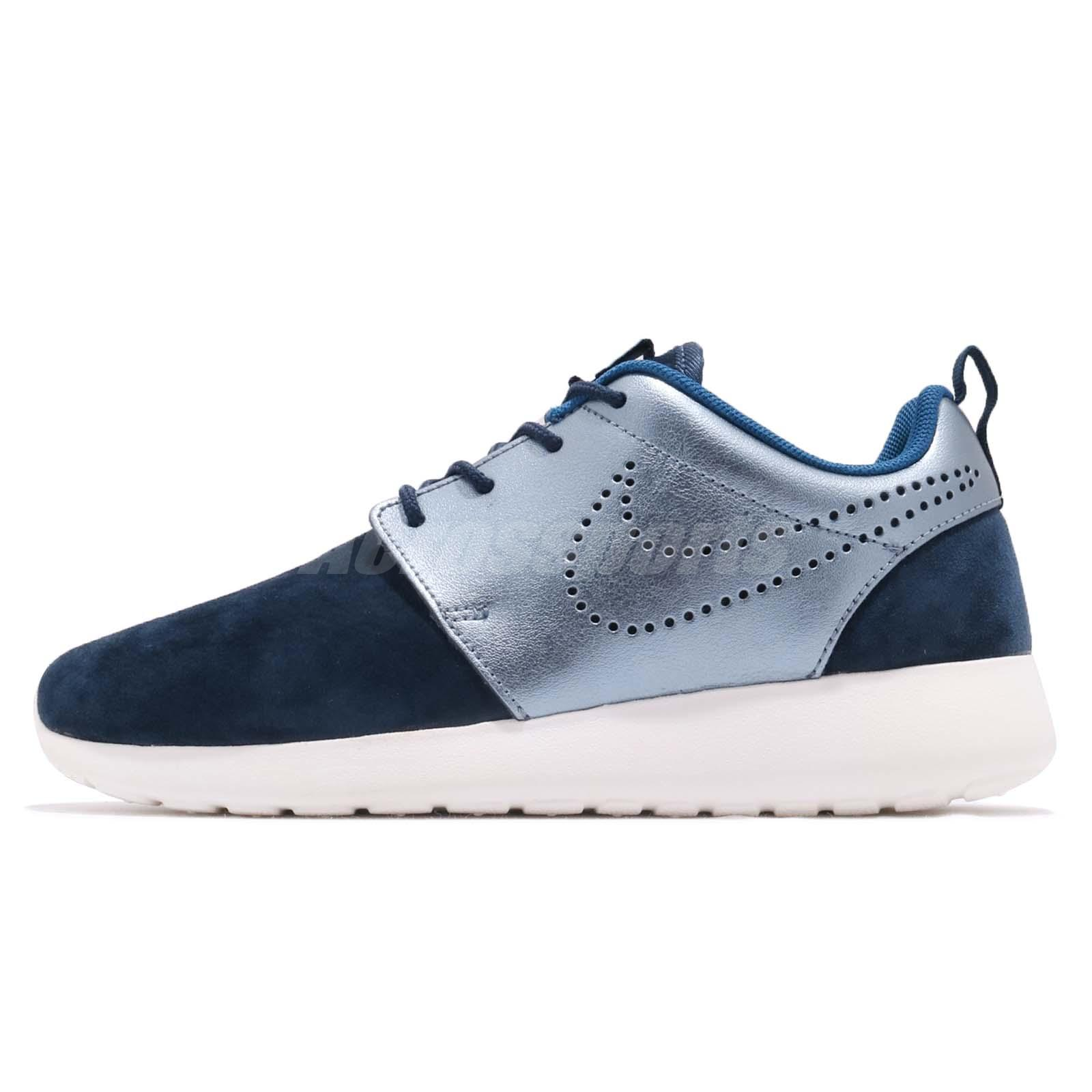 ... Wmns Nike Roshe One PRM Suede Rosherun Navy Womens Running Shoes  820228-400 4da124ea001