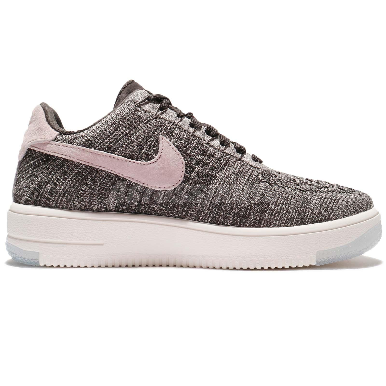 Nike Wmns AF1 Flyknit Low Air Force 1 Midnight Fog Silt Red Women 820256008