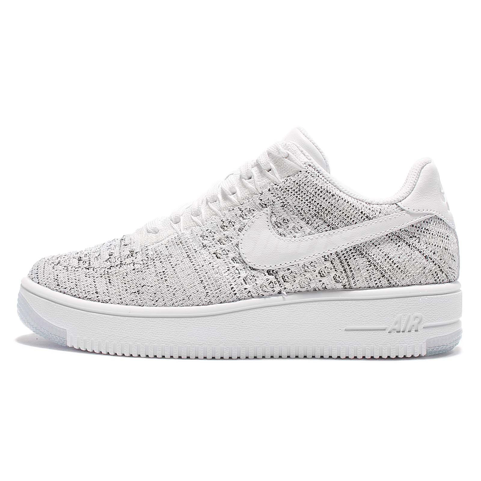 Wmns Nike AF1 Flyknit Low White Grey Women Classic Air Force 1 Shoes  820256-103