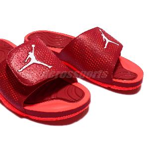 a343d40968027a ... Nike Jordan Hydro 5 V Red Infrared Mens Sandal Slides Slippers AJ5  820257-602 ...