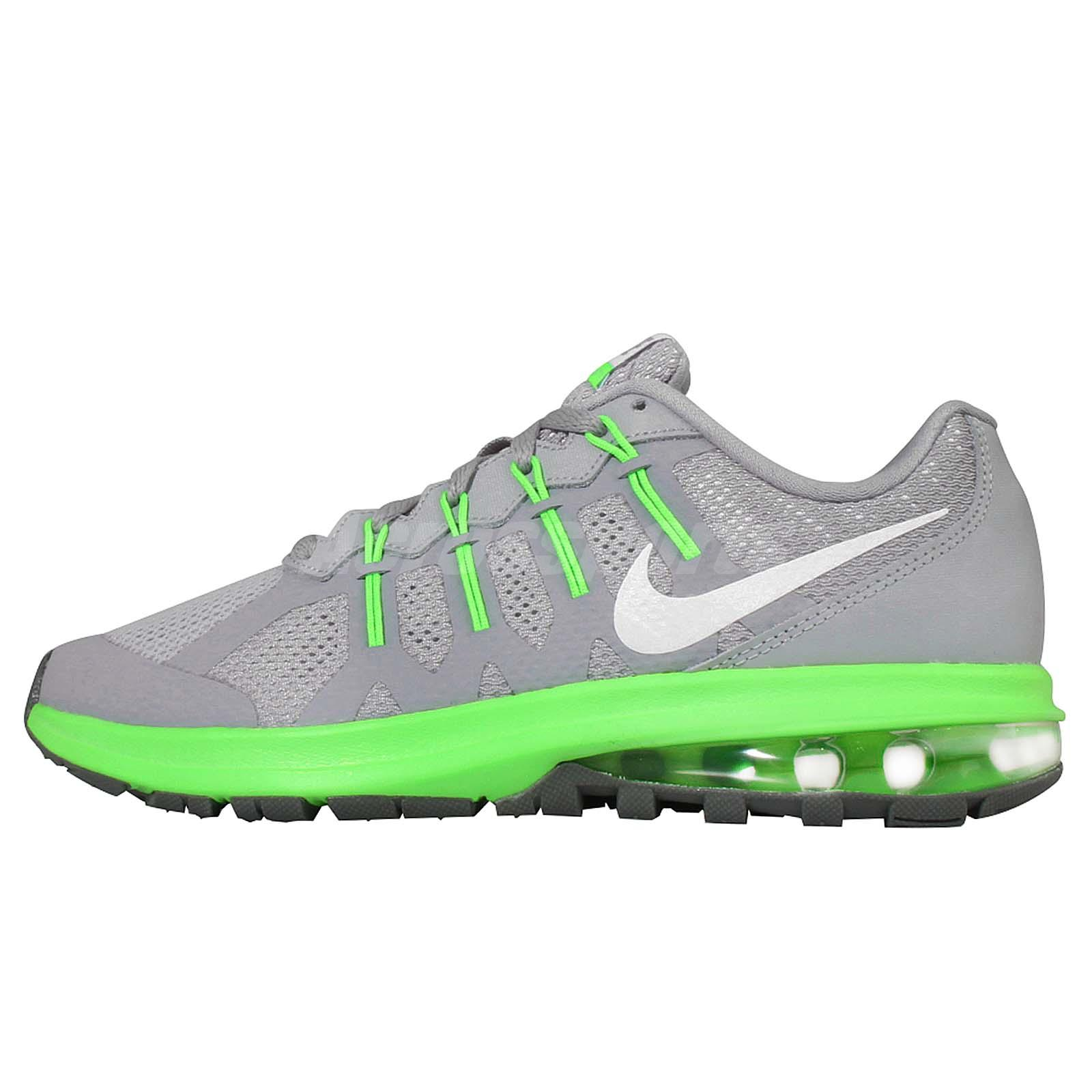 Nike Air Max Dynasty GS Grey Green Kids Youth Running ...