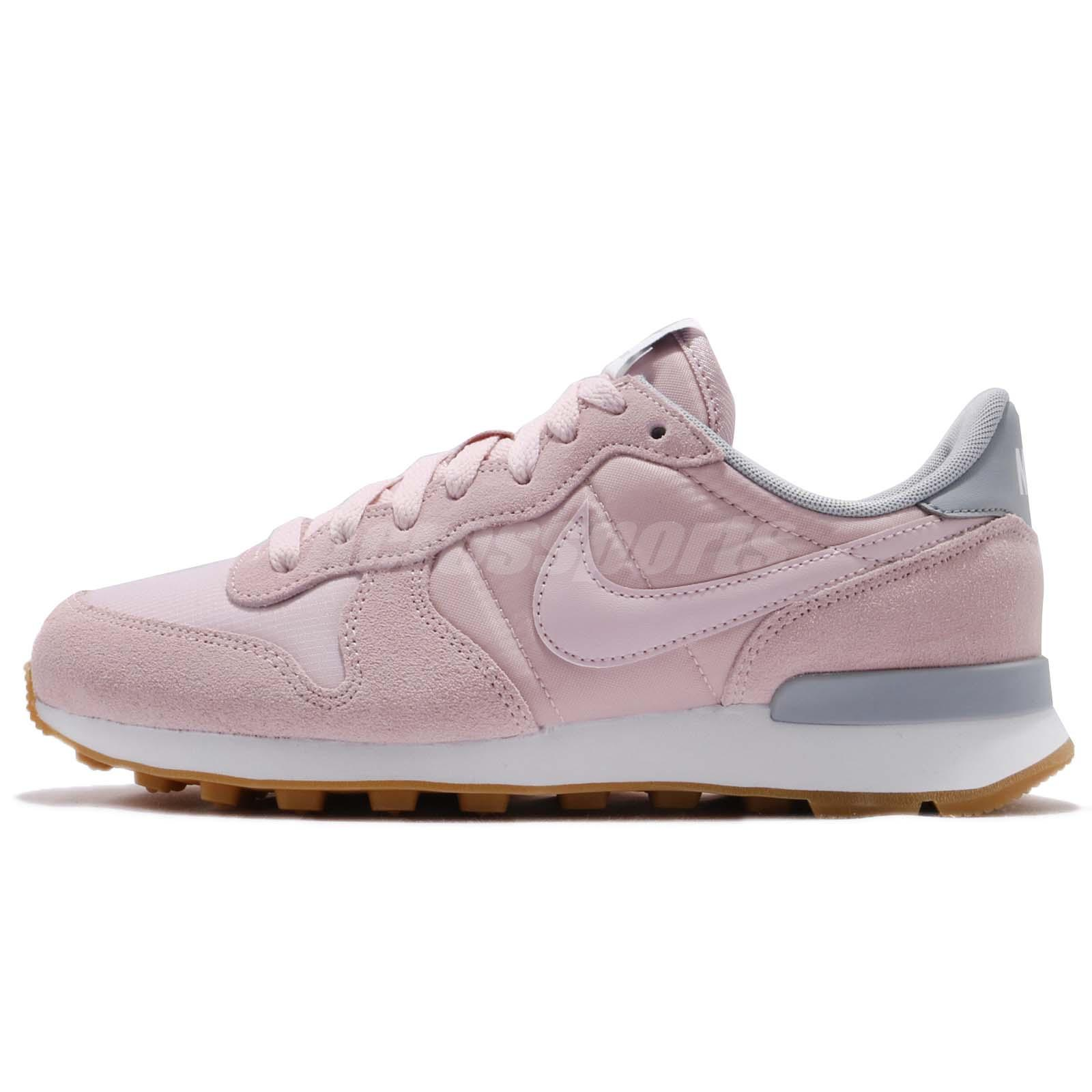 5d6b246a3daa Nike Wmns Internationalist Gum Barely Rose Pink Women Running Shoes 828407- 612