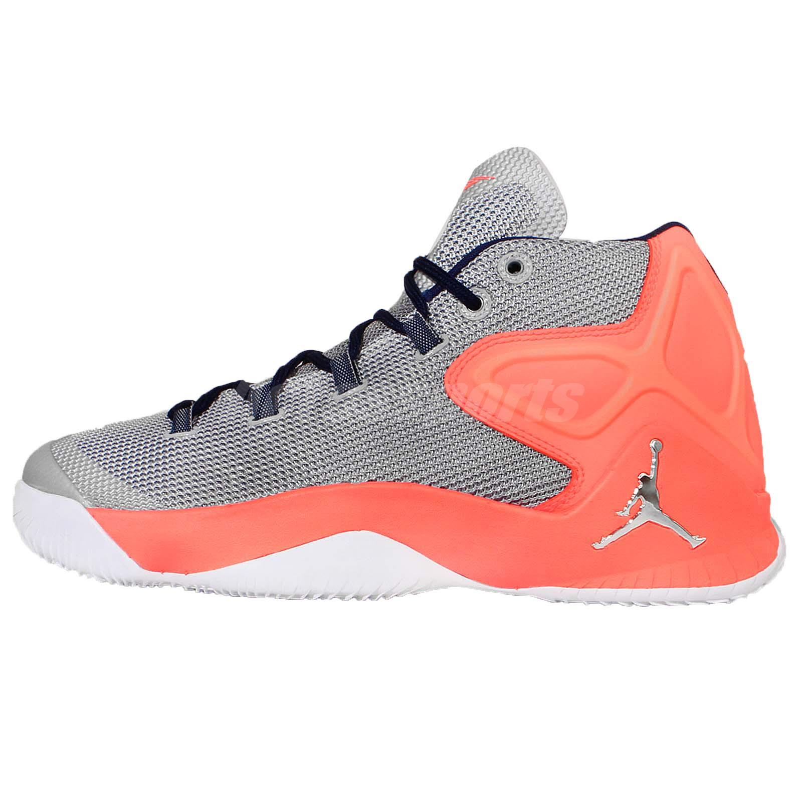 Nike Jordan Melo M12 X Camelo Anthony Grey Orange ...