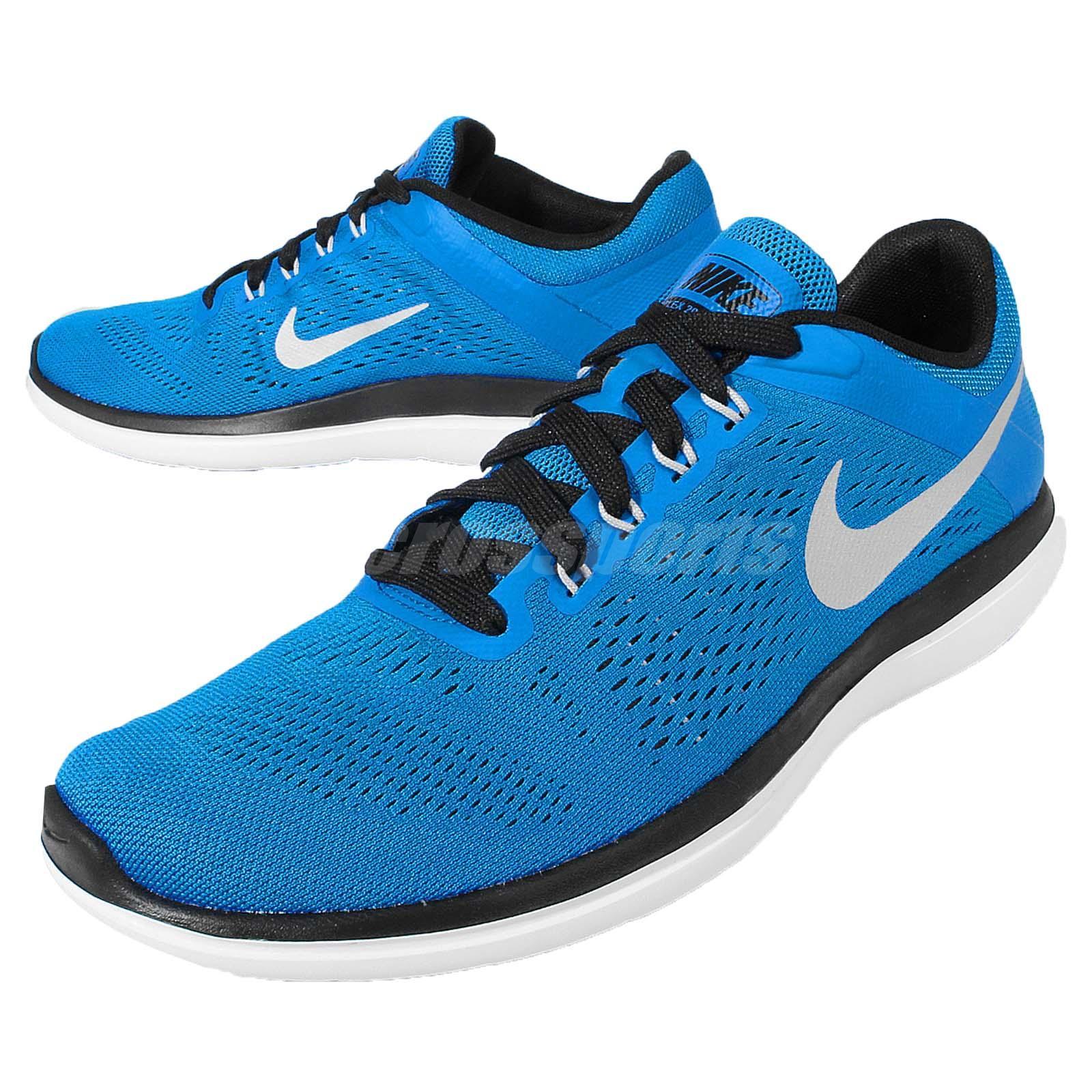 nike flex 2016 rn run blue black mens running shoes. Black Bedroom Furniture Sets. Home Design Ideas