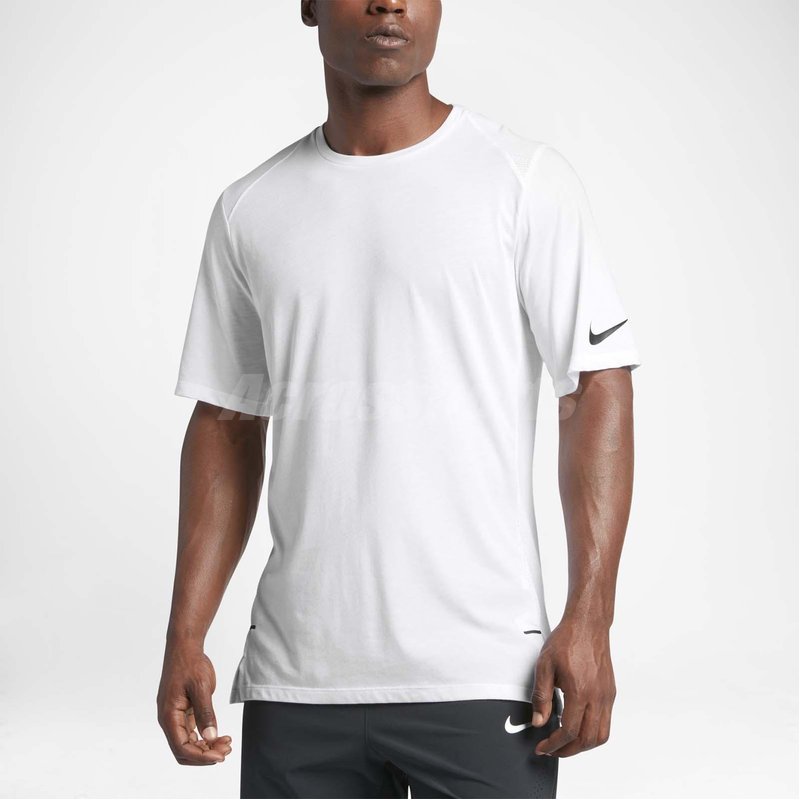 49cba261c030 Details about Nike Men Breathe Top Short Sleeve Elite Tee Hoops T-Shirt  Basketball 830950-100