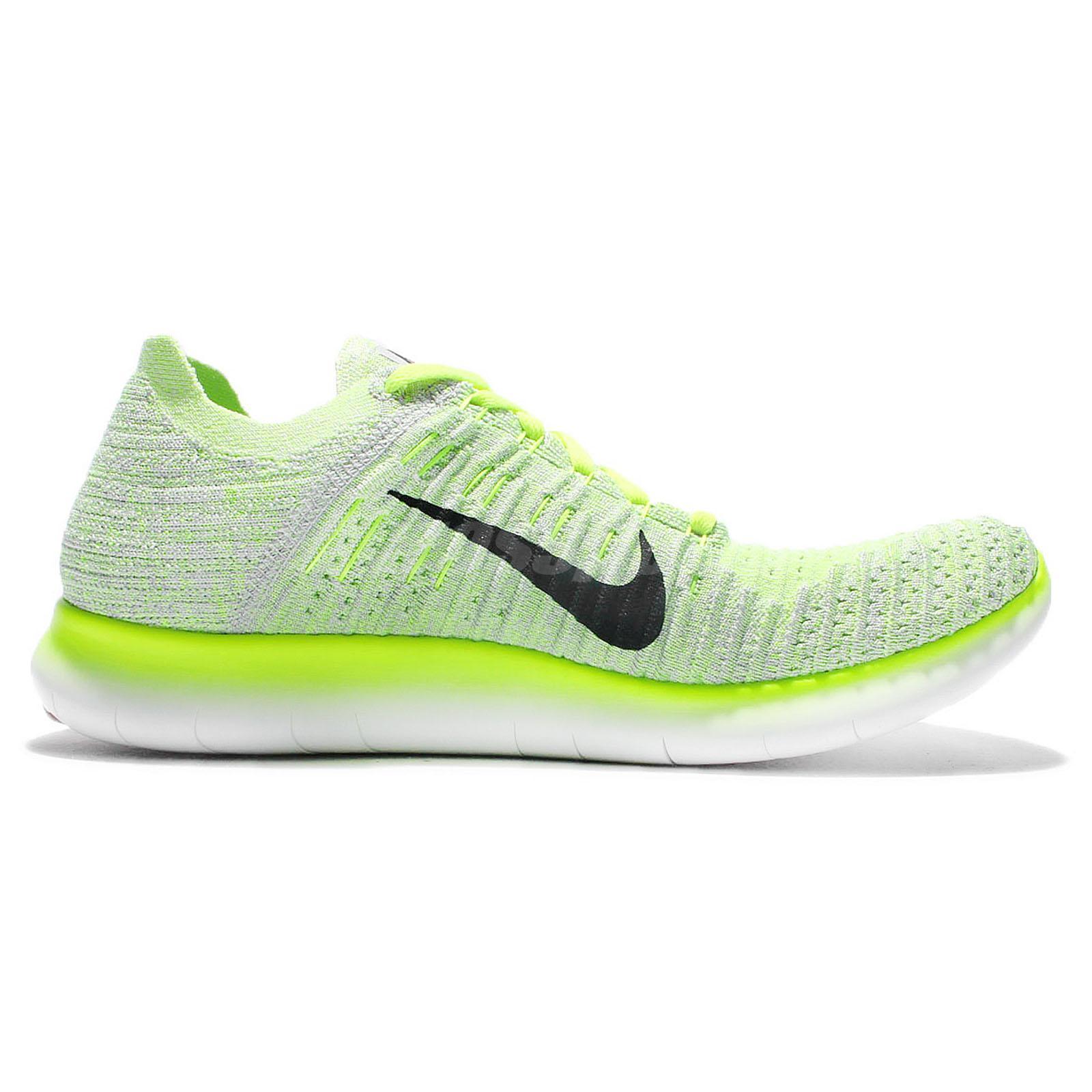 nike free run flyknit yellow shoes