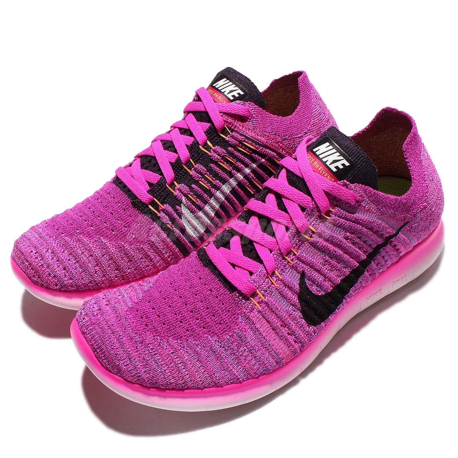wmns nike free rn flyknit run purple black womens running. Black Bedroom Furniture Sets. Home Design Ideas