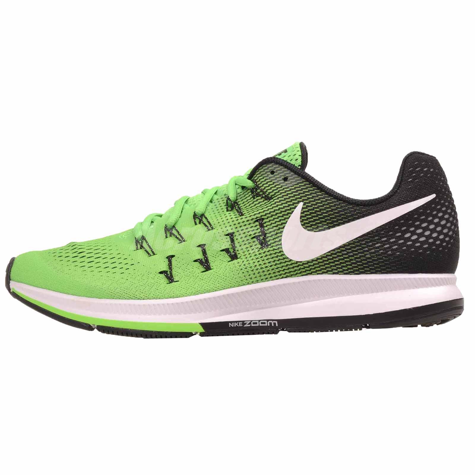 aea88ecc449dd7 Details about Nike Air Zoom Pegasus 33 Running Mens Shoes Green 831352-301