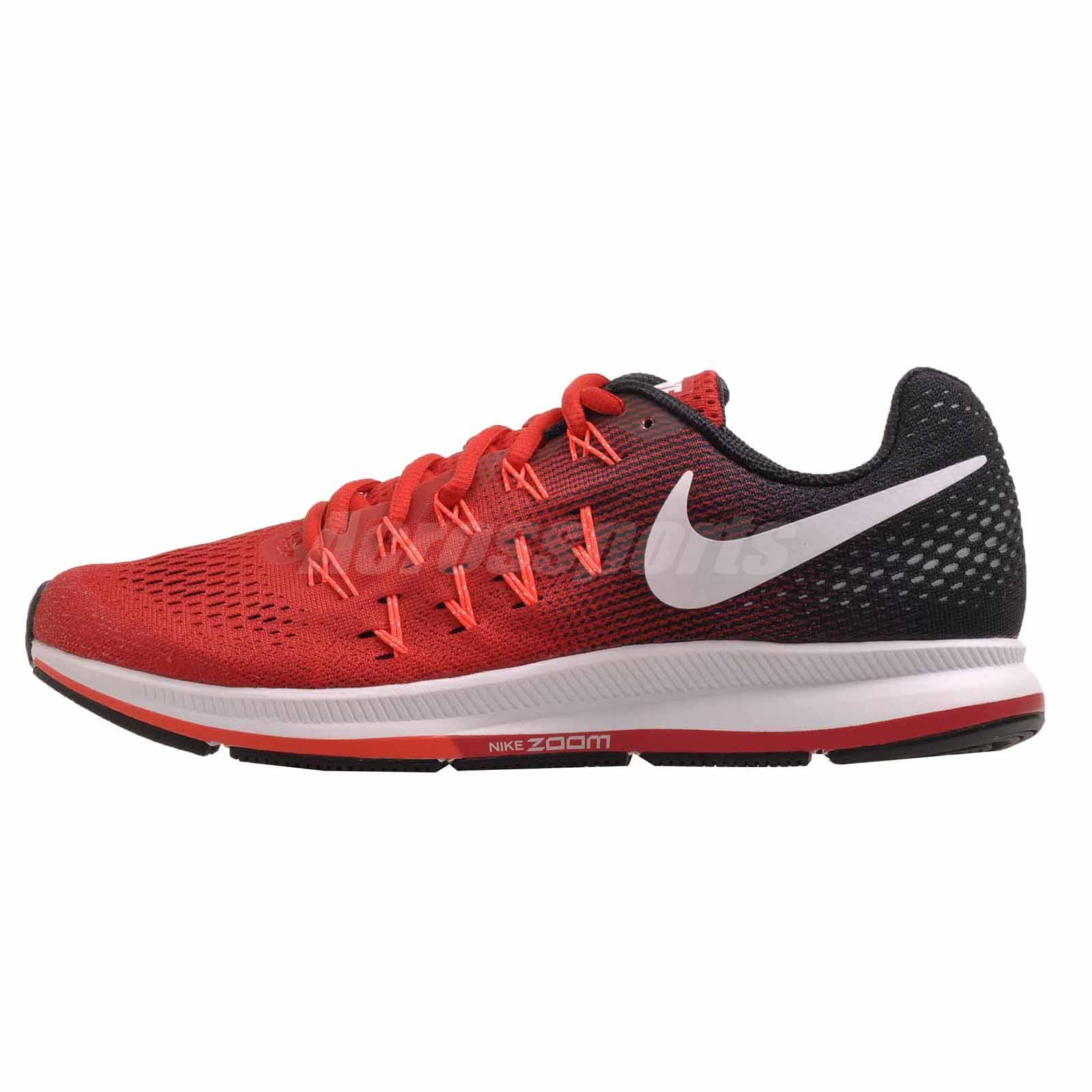 Nike Air Zoom Pegasus 33 Running Shoes Red White 831352-601