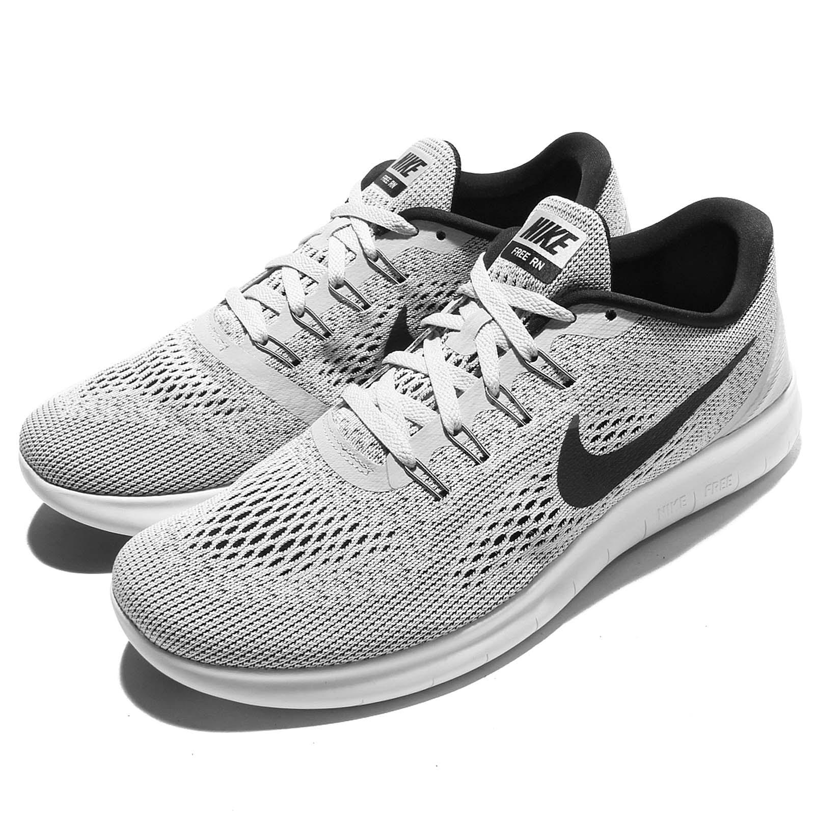 nike free rn run grey black men running shoes sneakers. Black Bedroom Furniture Sets. Home Design Ideas