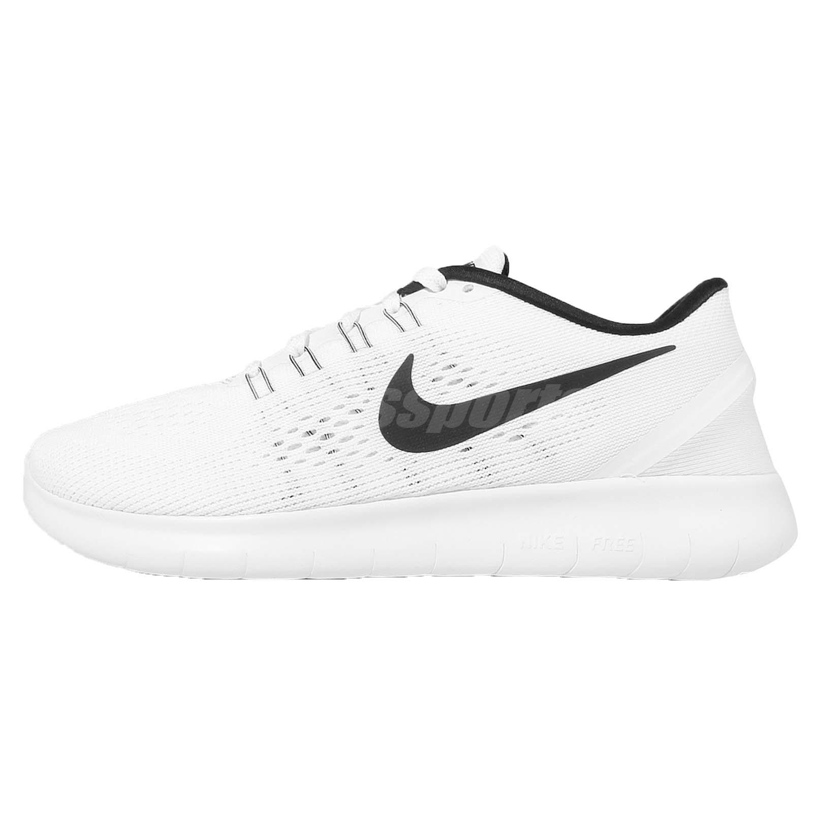 Wmns Nike Free RN White Black Womens Running Shoes Trainers Sneakers 831509- 100