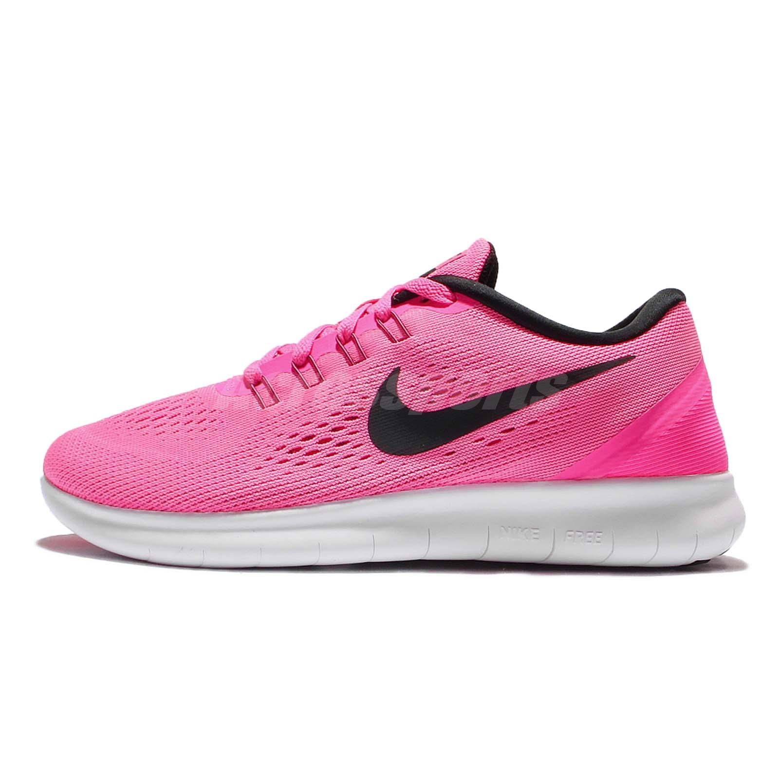 06585c157347 Wmns Nike Free RN Run Pink Black Womens Running Shoes 831509-600