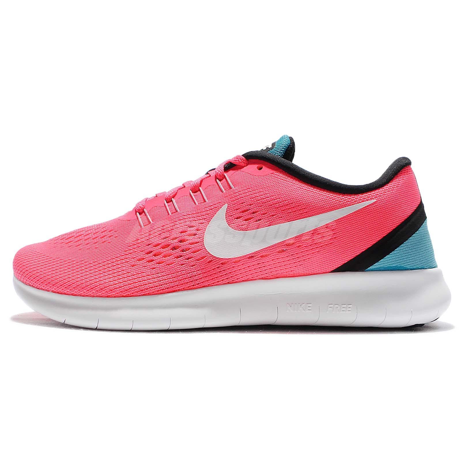 b60135c0e935 Wmns Nike Free RN Run Pink Blue Women Running Shoes Sneakers Trainers  831509-602