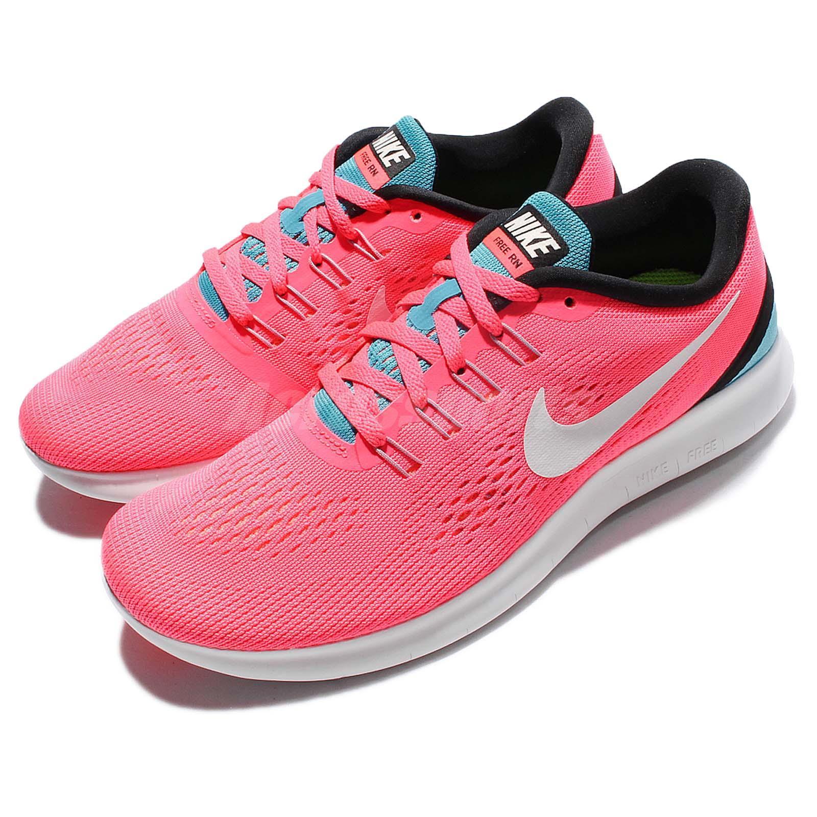 NIKE Womens Free RN Run Racer Pink Off White Blue 831509 602 Running