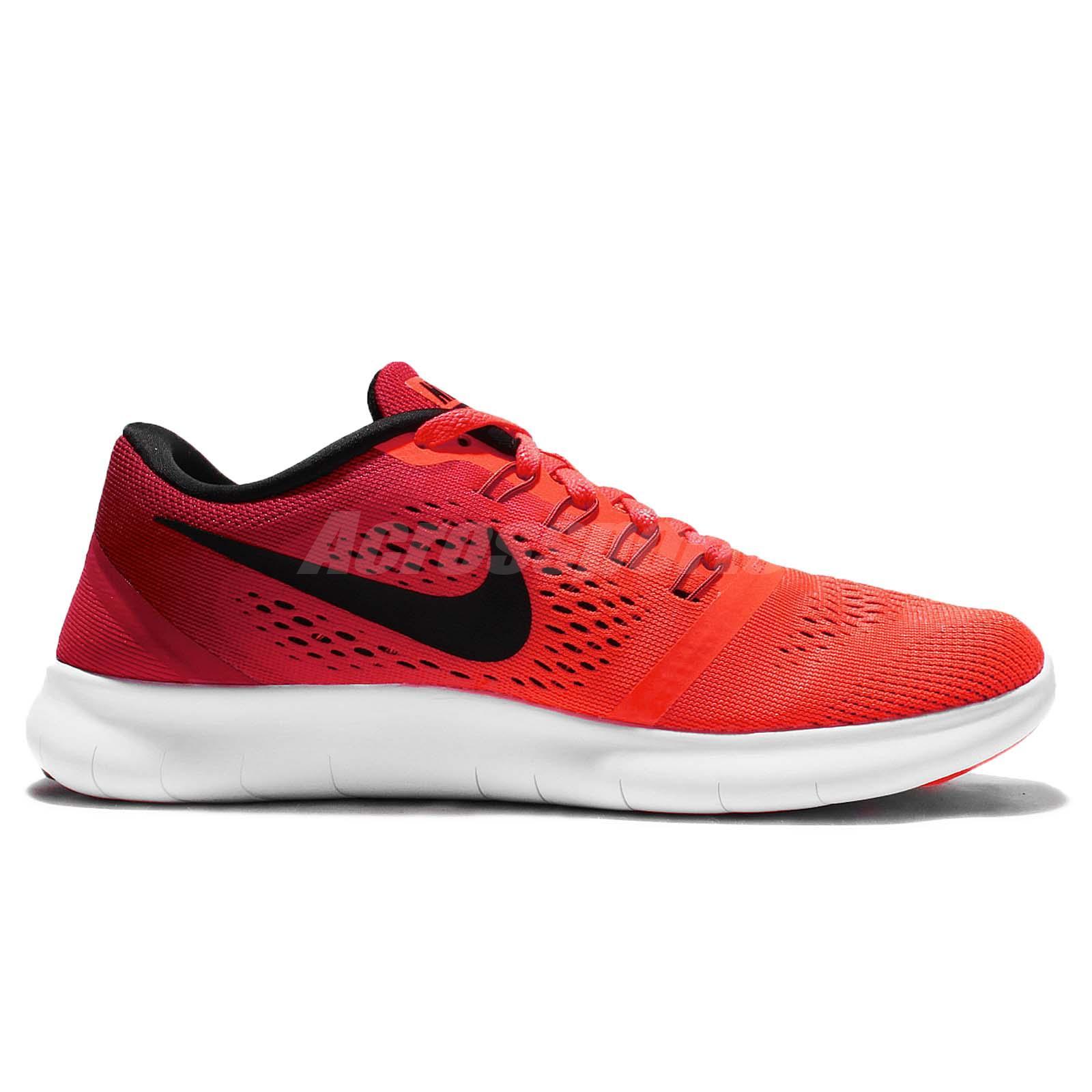Wmns Nike Free RN Run Red Black Womens Running Shoes Sneakers Runner ... 852e4b60e