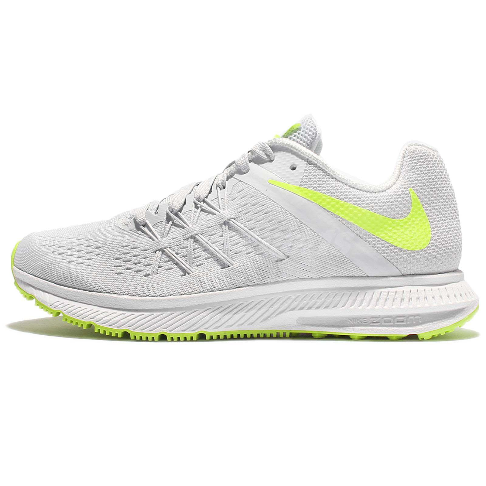 wholesale dealer c383d 102ae ... Wmns Nike Zoom Winflo 3 III Grey Yellow Women Running Shoes Sneakers  831562-009 ...