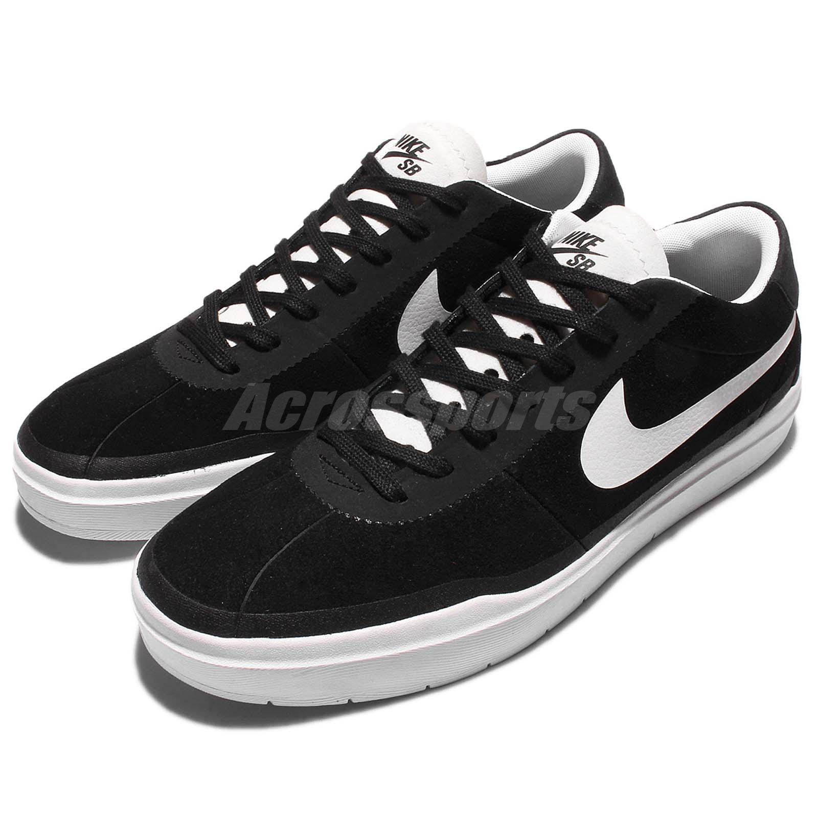 c089b4ad442130 Details about Nike Bruin SB Hyperfeel Black White Mens Skateboarding Shoes  Trainers 831756-001