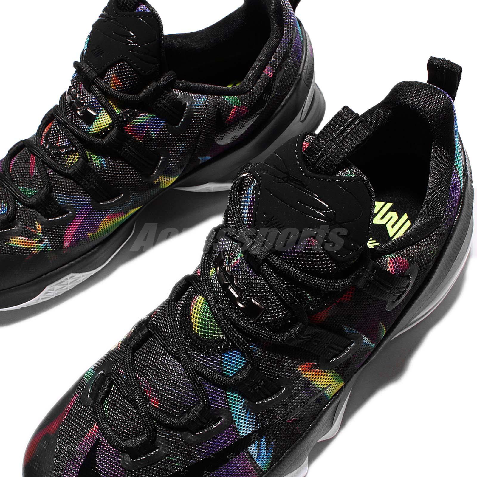d0fab618167 Nike Lebron XIII bajo EP James 13 aves del paraíso Negro Arco Iris ...