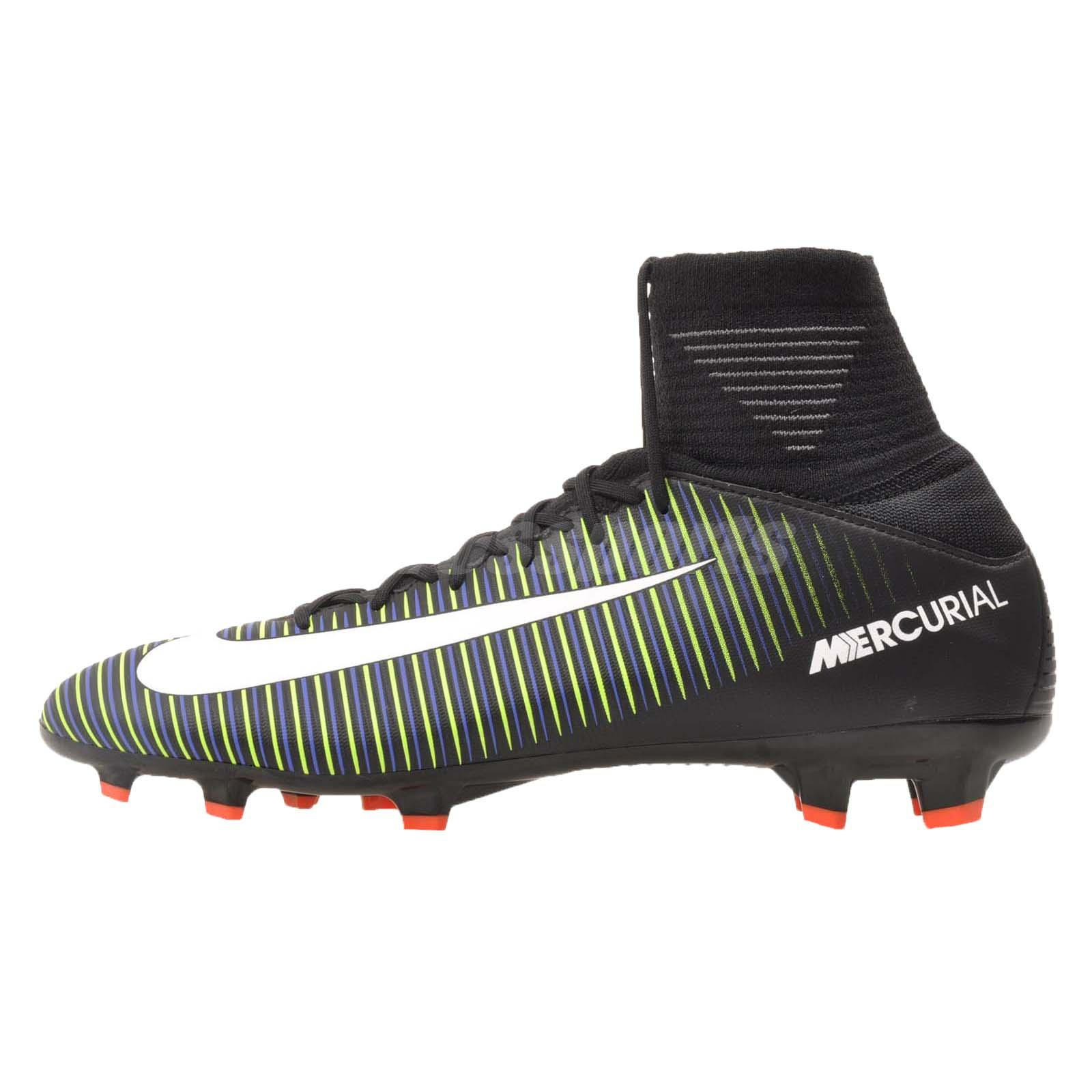 569367a4c Details about Nike JR Mercurial Superfly V FG Kids Youth Soccer Cleats  Black Green 831943-013
