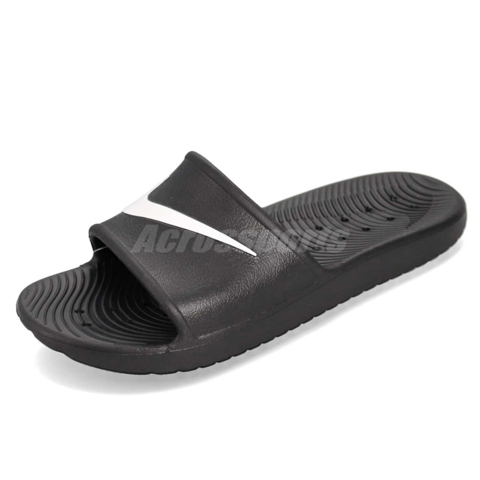8a8c85d49e18 Nike Kawa Shower Black White Men Sports Sandals Slides Slippers 832528-001