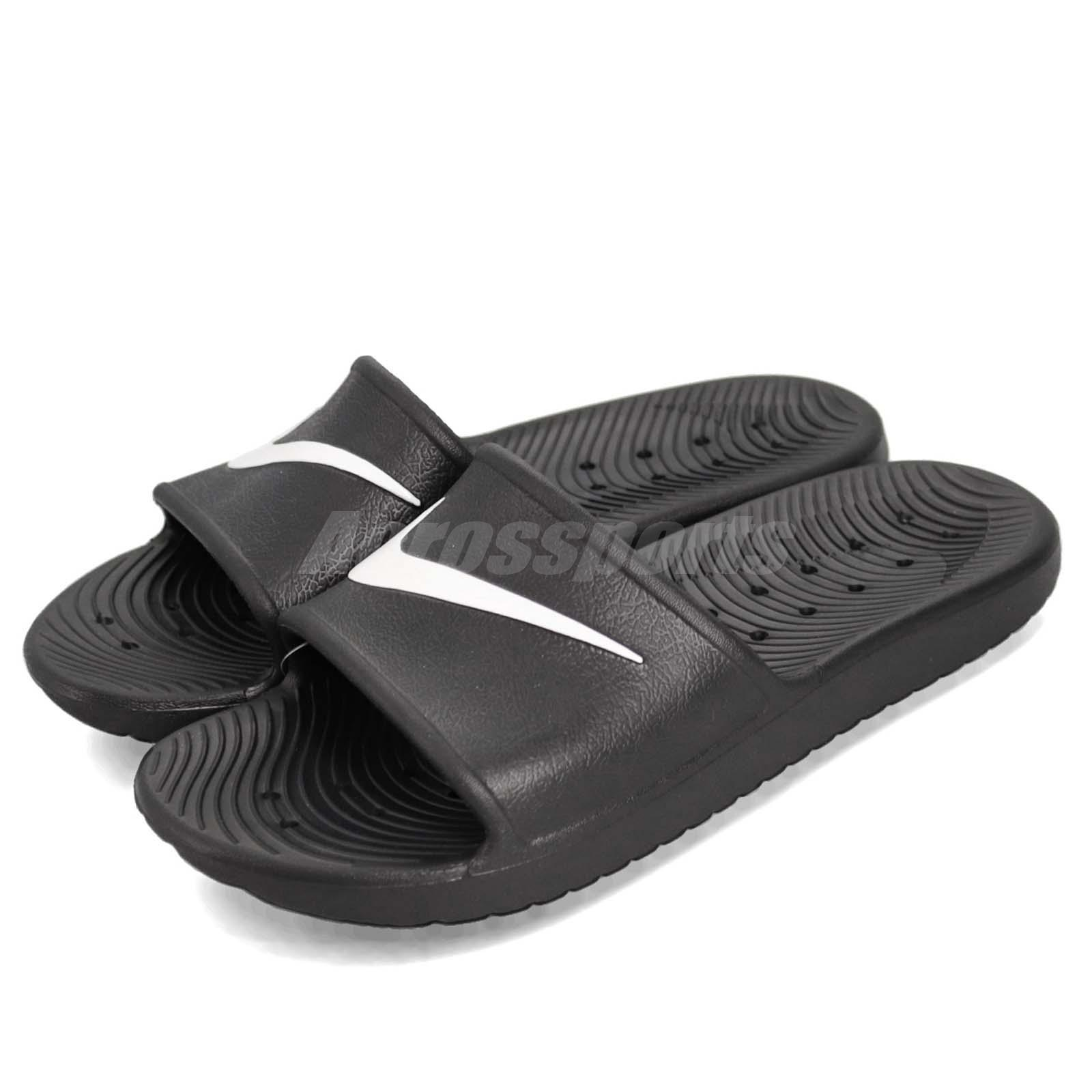 new arrival 24117 52cac Details about Nike Kawa Shower Black White Men Sports Sandals Slides  Slippers 832528-001