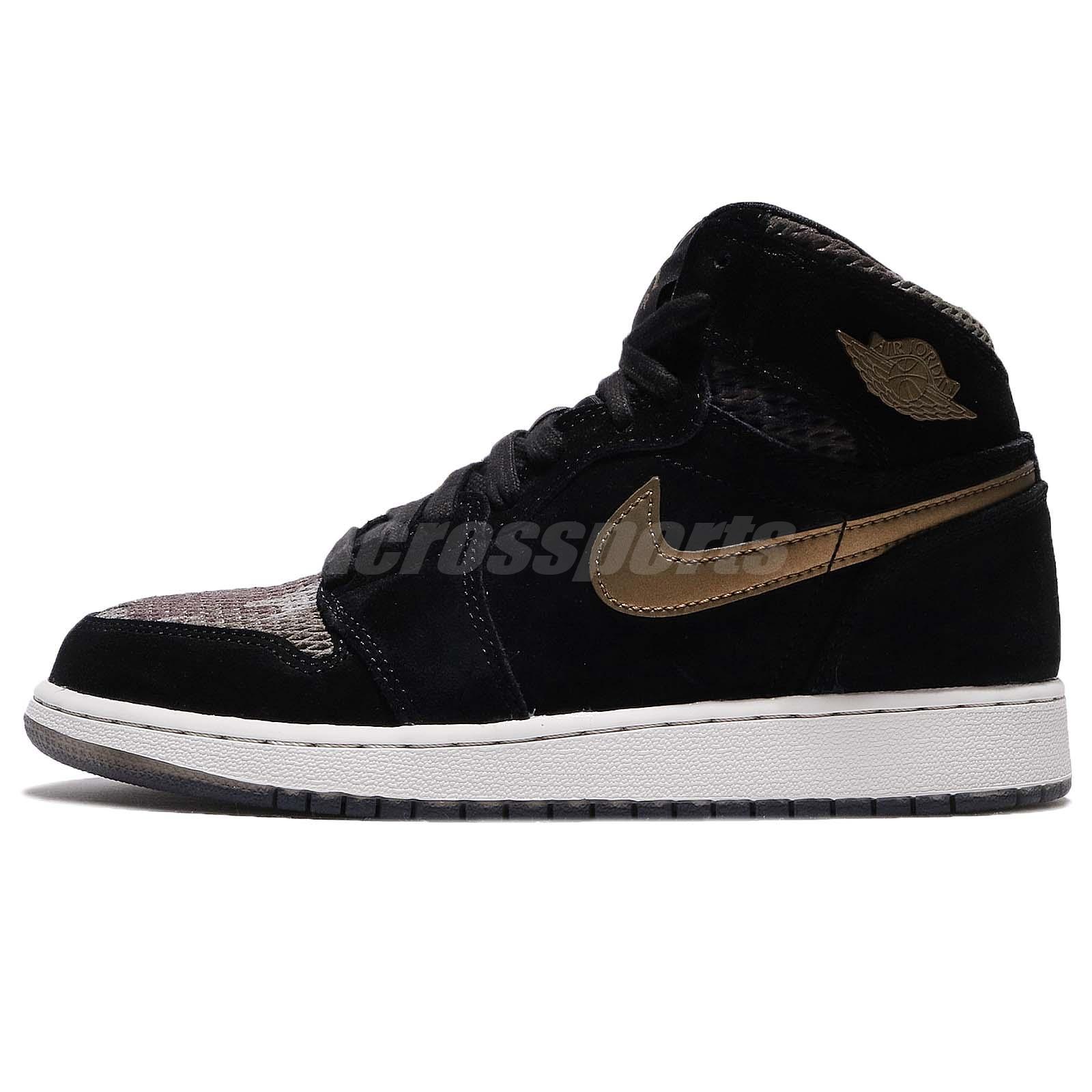 88c26139dd0 Nike Air Jordan 1 Retro Hi PREM HC GG Heiress Camo Black Kids Women  832596-030