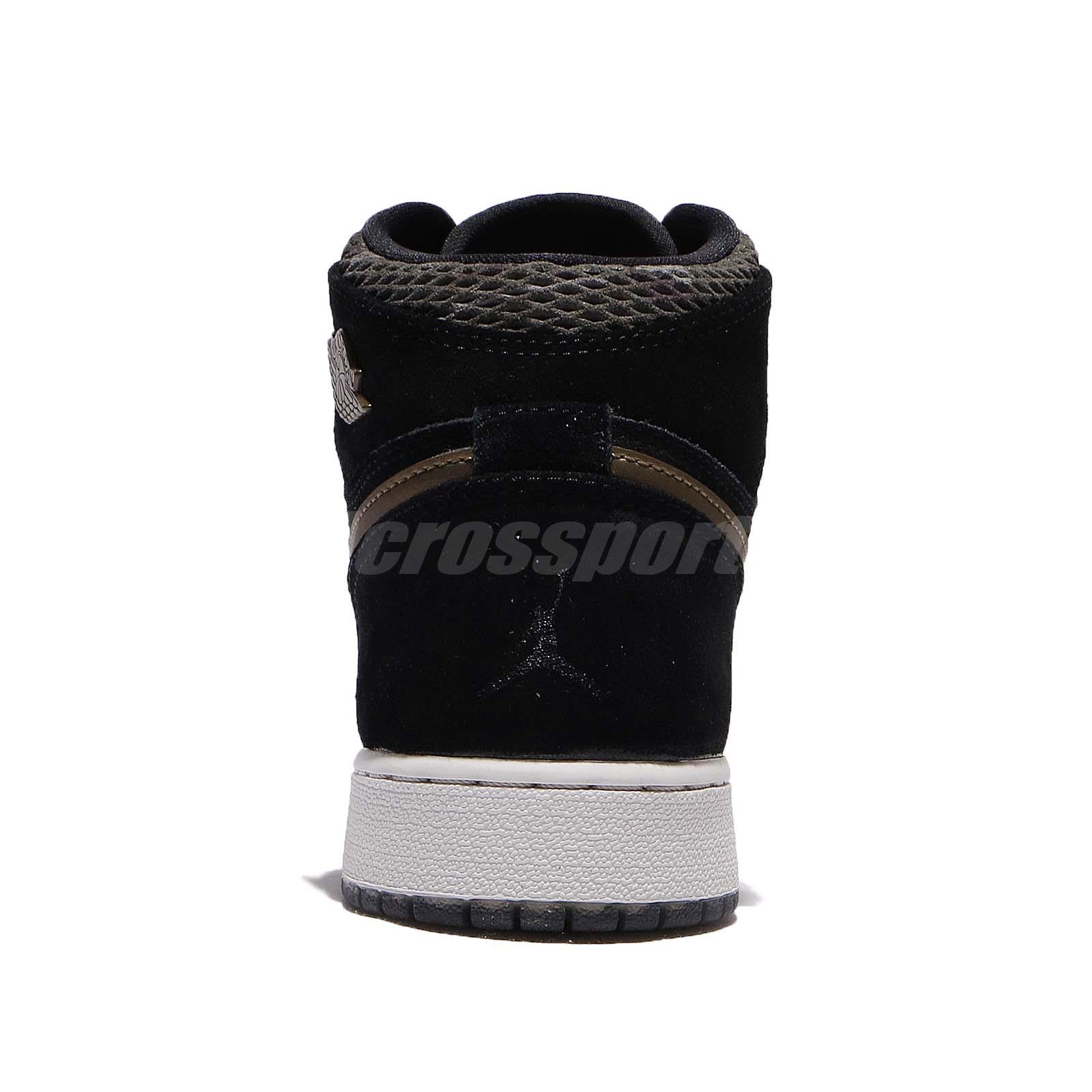 c82848ae409 Nike Air Jordan 1 Retro Hi PREM HC GG Heiress Camo Black Kids Women ...
