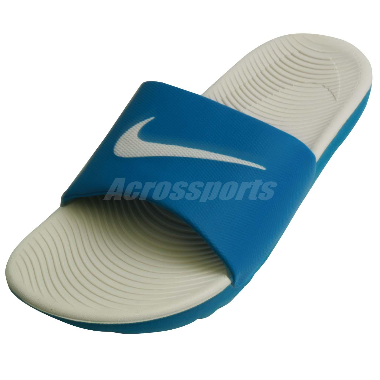 8c91a19d576e5 Nike Kawa Slide Sandals Flip Flps Granite Blue 832646-003