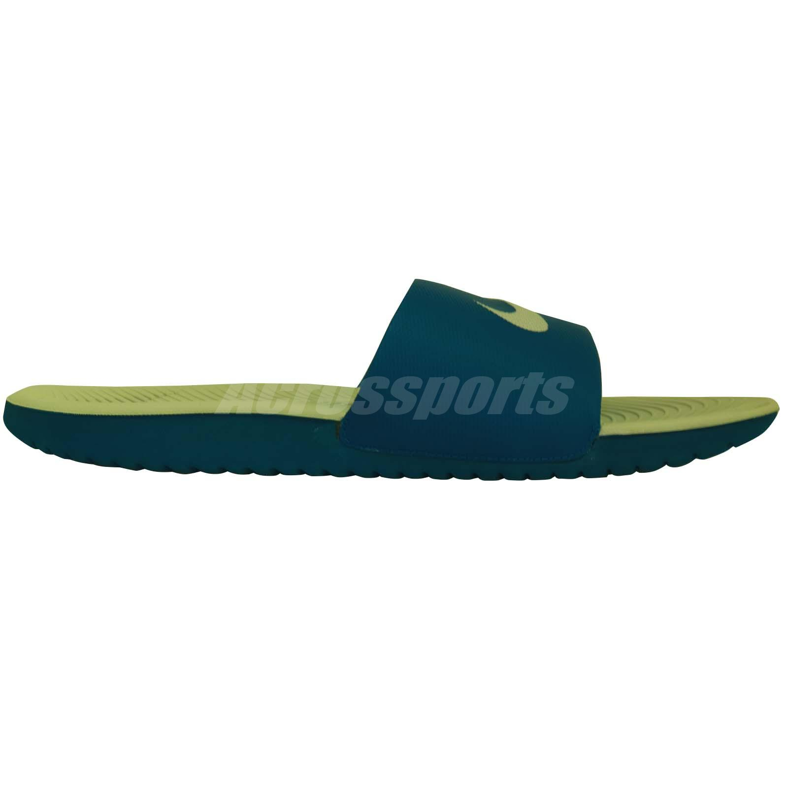 70fd6f9a922d9 Details about Nike Kawa Slide Sandals Flip Flps Granite Blue 832646-003