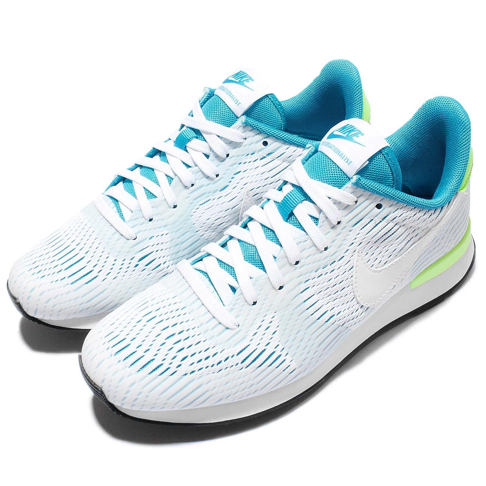 Wmns Nike Internationalist EM Blue Green Women Vintage Trainers Shoe 833815-100