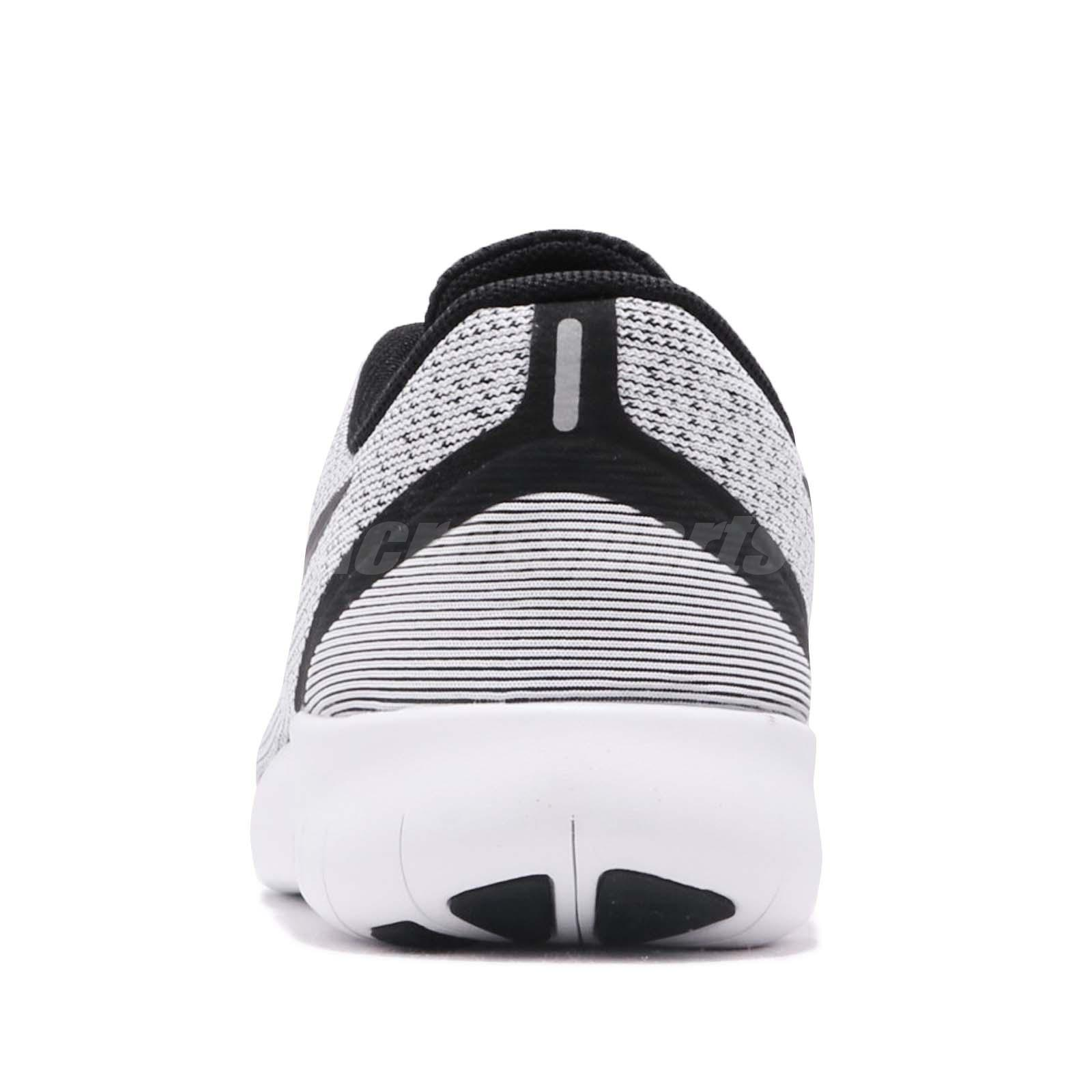 Unisex Shoes Nike Free Run Youth Size 5.5y Running Shoes Sneakers Black & White 833989-100 Clothing, Shoes & Accessories
