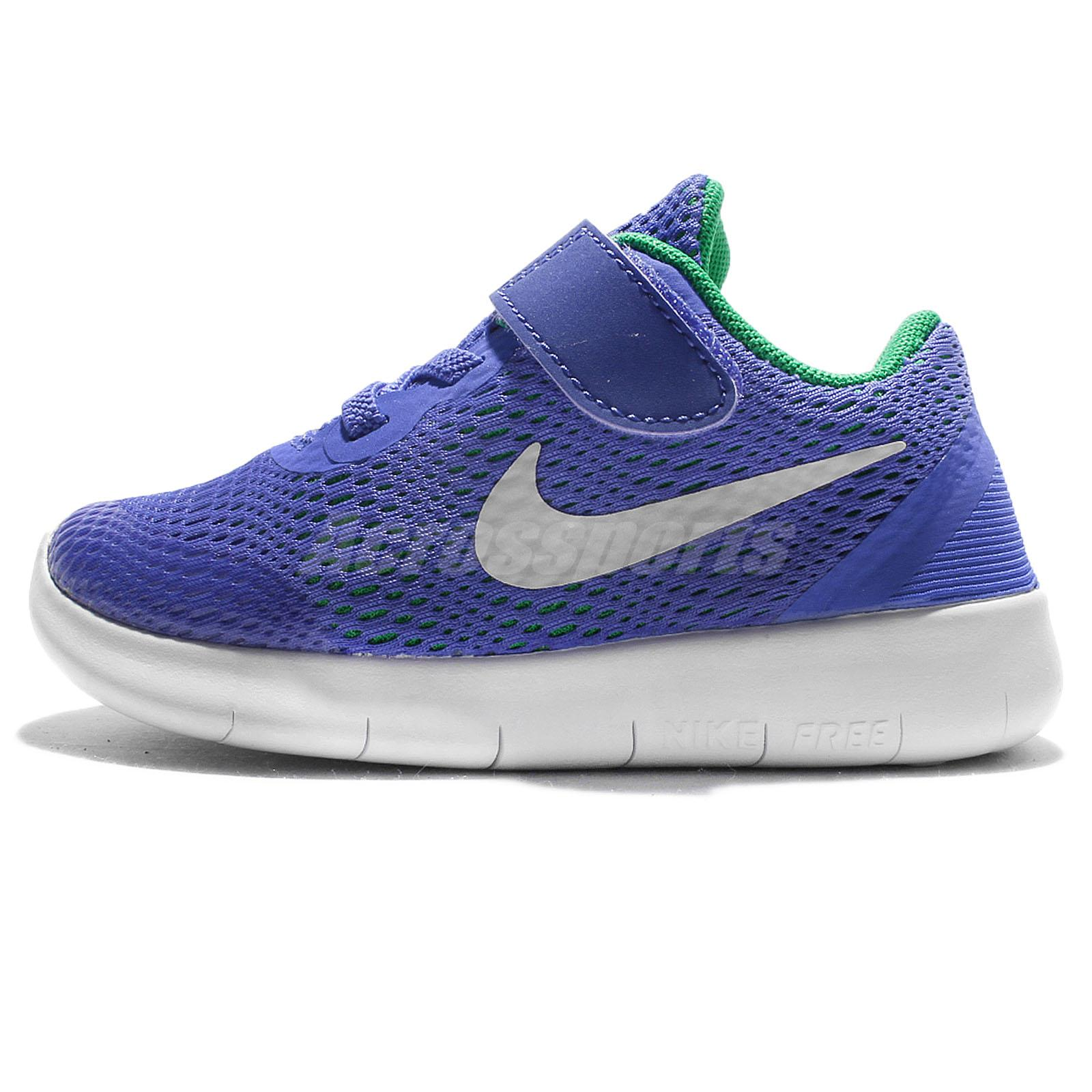 Nike Free RN TDV Blue White Toddler Infant Shoes Prewalkers Sneakers  833992-404