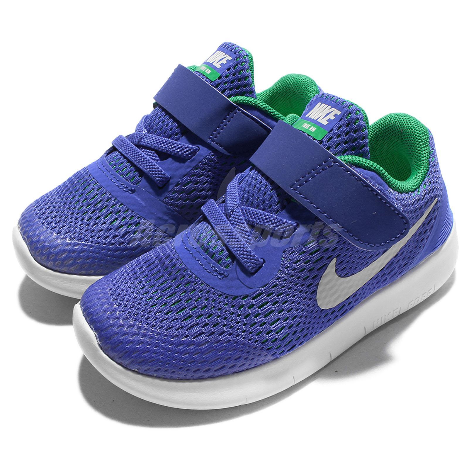 54d55b4cfa1d Details about Nike Free RN TDV Blue White Toddler Infant Shoes Prewalkers  Sneakers 833992-404