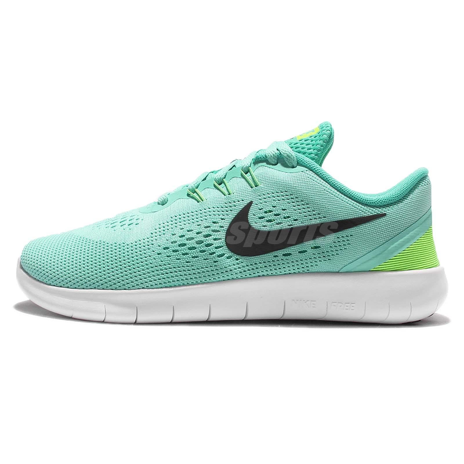 c393c5c5a9bbd Nike Free RN GS Run Turquoise Green Kid Youth Women Running Shoes 833993-300