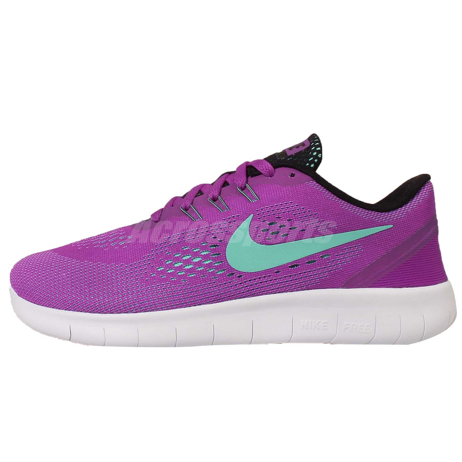 purple nike running shoes for girls. n i k e free rn gs run purple blue kids youth girls running shoes 833993-500 nike for t