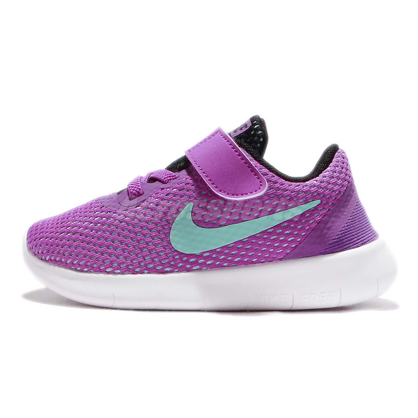 Nike Free RN TDV Run Purple Blue Toddler Infant Baby